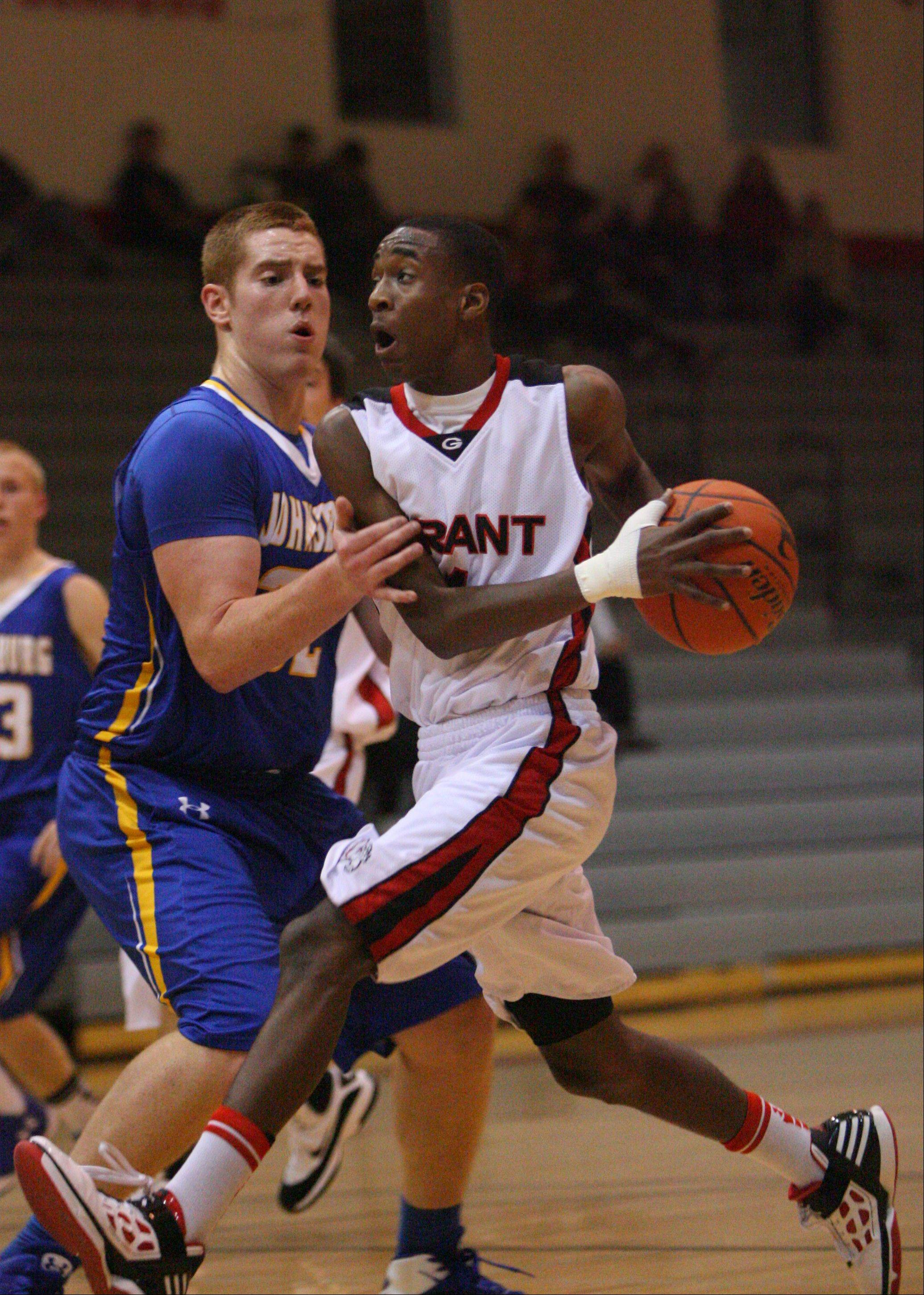 Images from the Grant vs. Johnsburg boys basketball game Thursday, Dec. 28, during the Grant High School Holiday Tournament in Fox Lake.
