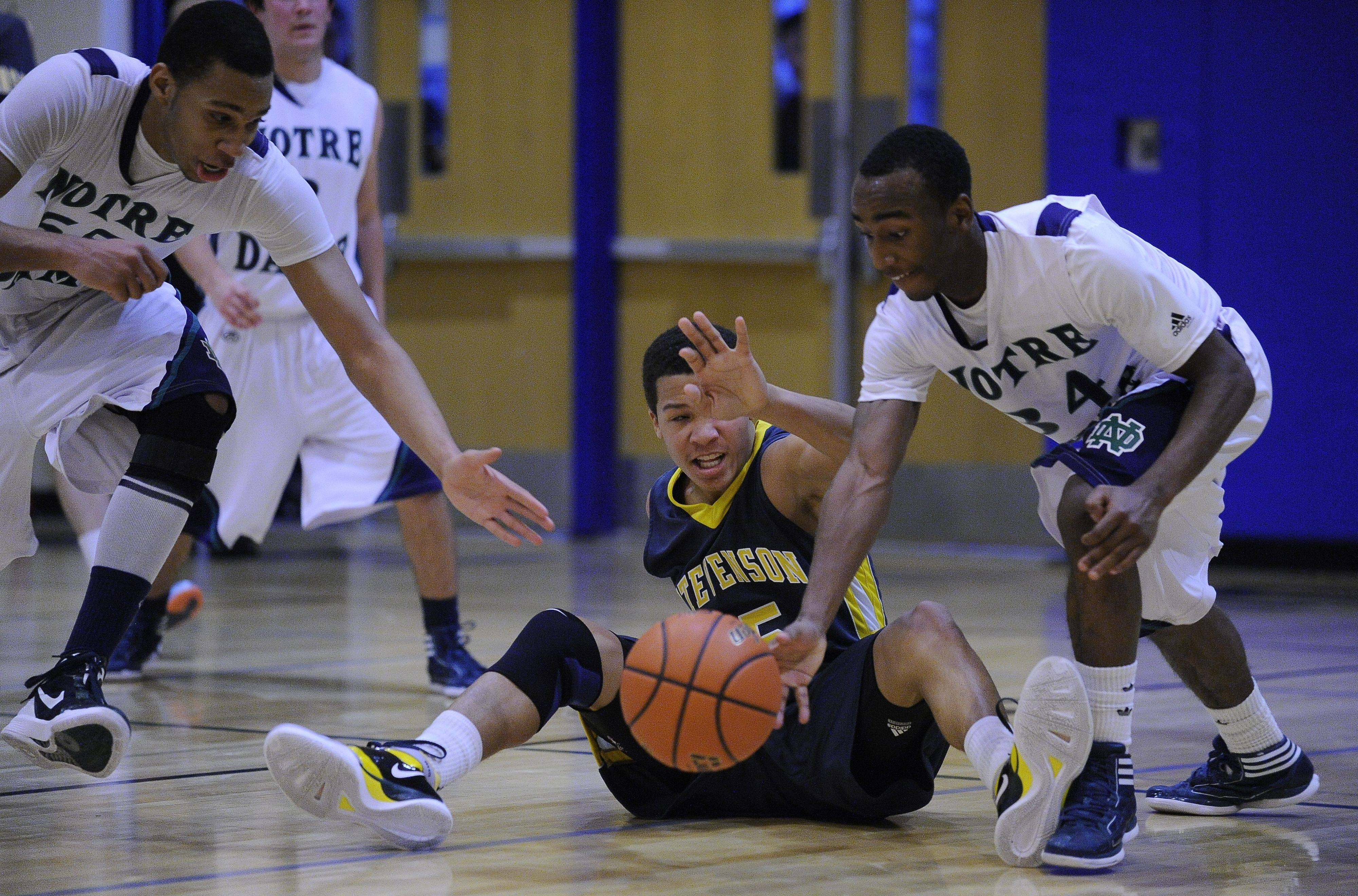 Images: Stevenson vs. Notre Dame boys basketball