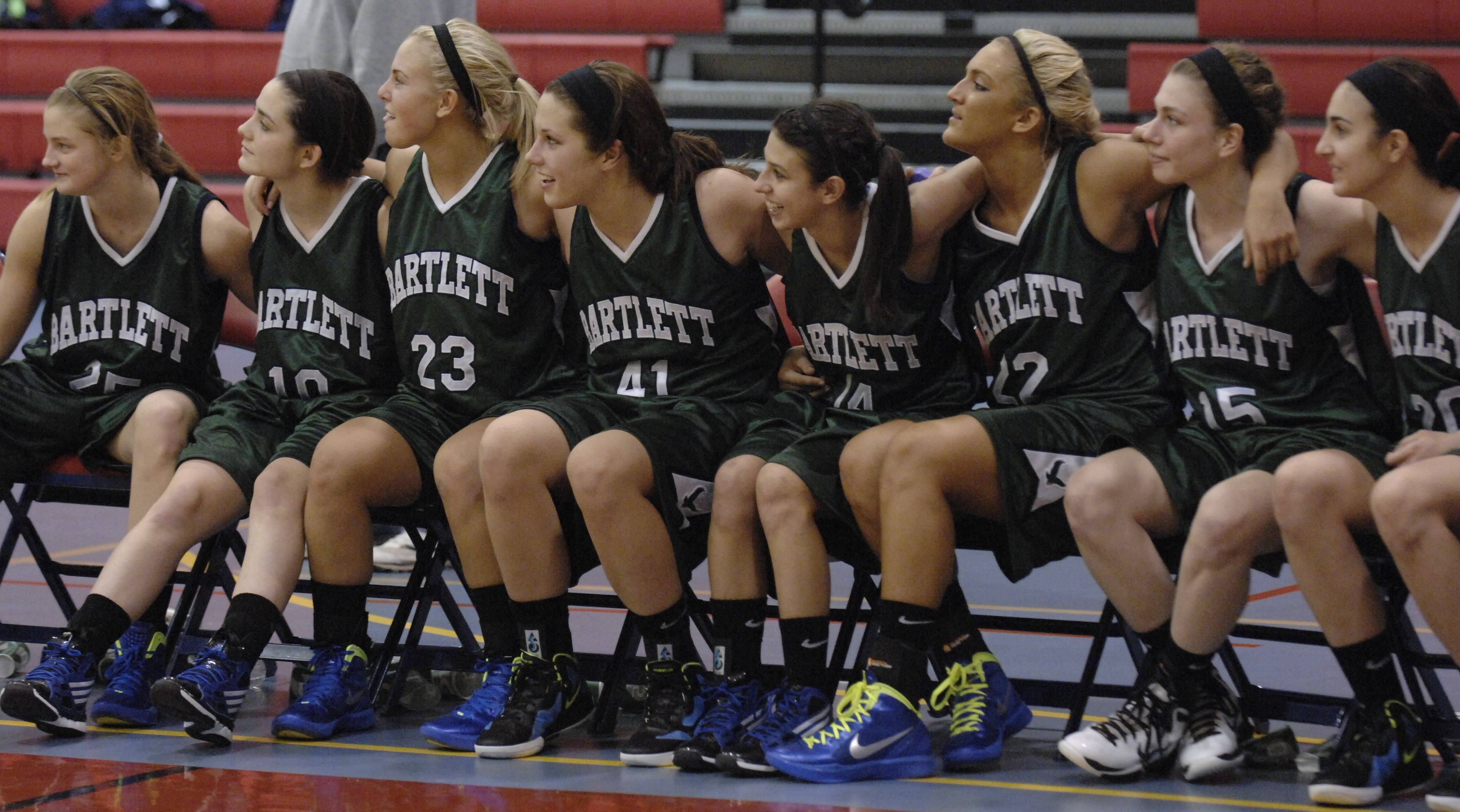Images from Bartlett vs. New Trier for the championship of Dundee-Crown girls basketball tournament Thursday, December 29, 2011 in Carpentersville.