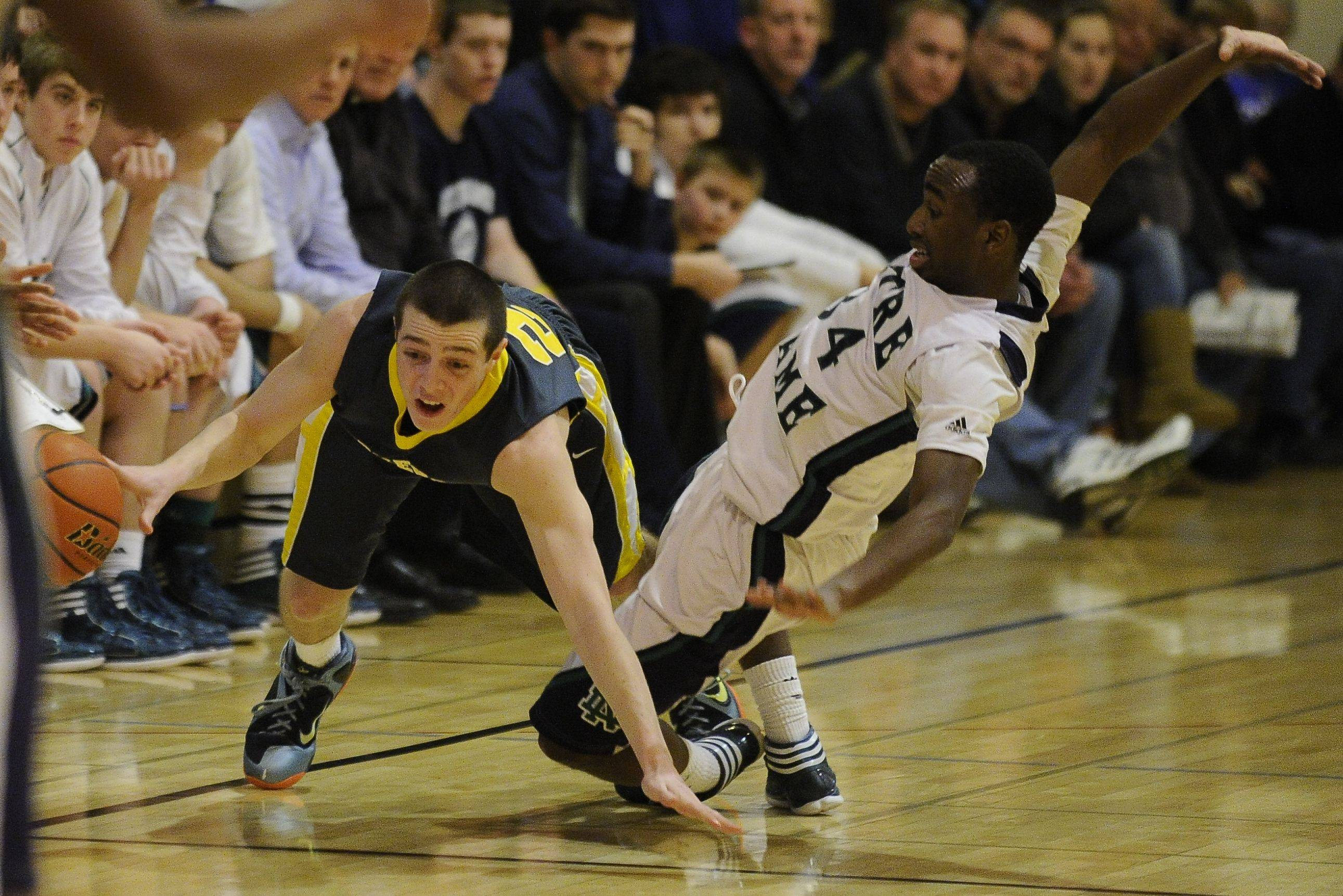 Images from the Notre Dame vs. Stevenson boys semifinal basketball game at the Wheeling holiday tournament on Thursday, December 29, 2011.