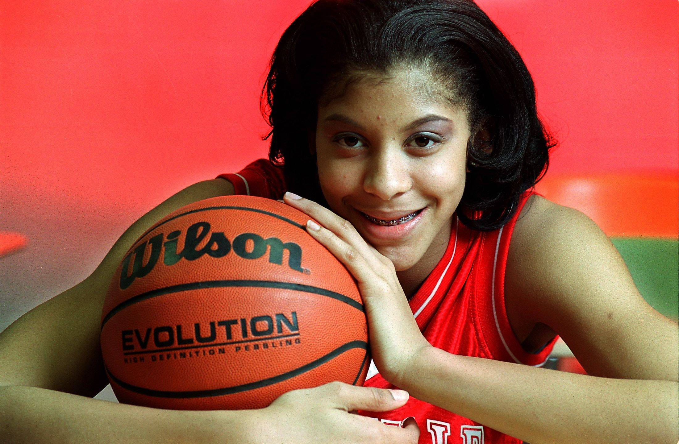 Candace Parker of Napervile Central captain of the all area girls basketball team