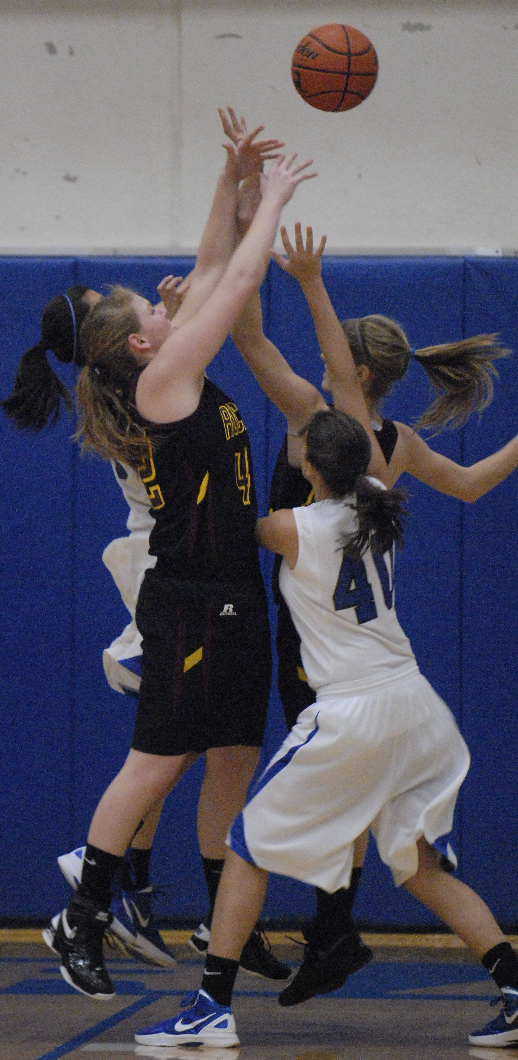Images from the Richmond-Burton at Burlington Central girls basketball game on Saturday, Jan. 14, 2012.