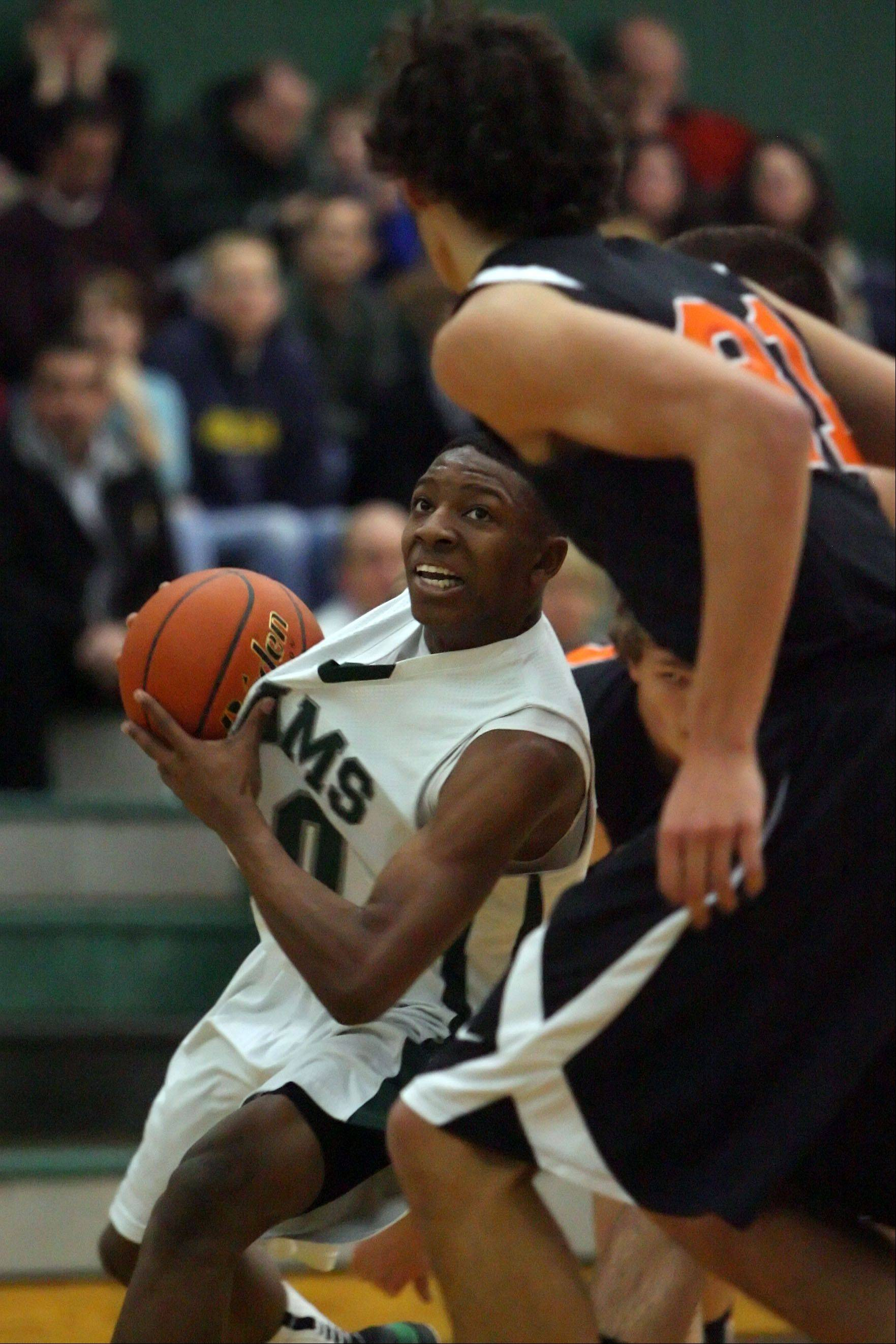 Images from the Crystal Lake Central at Grayslake Central boys basketball game Wednesday, Jan. 18.