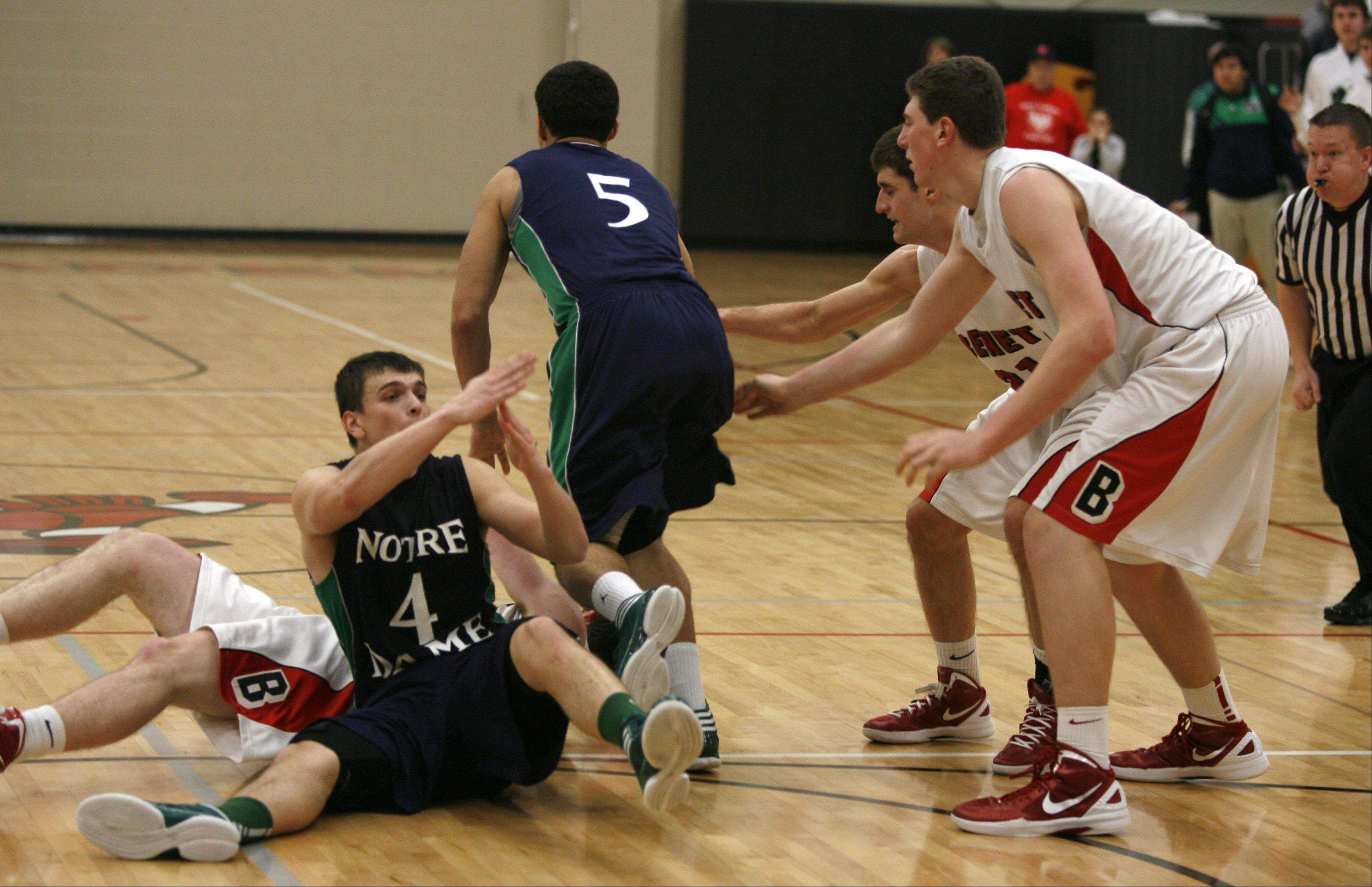 Benet Academy hosted Notre Dame Friday night for boys basketball.