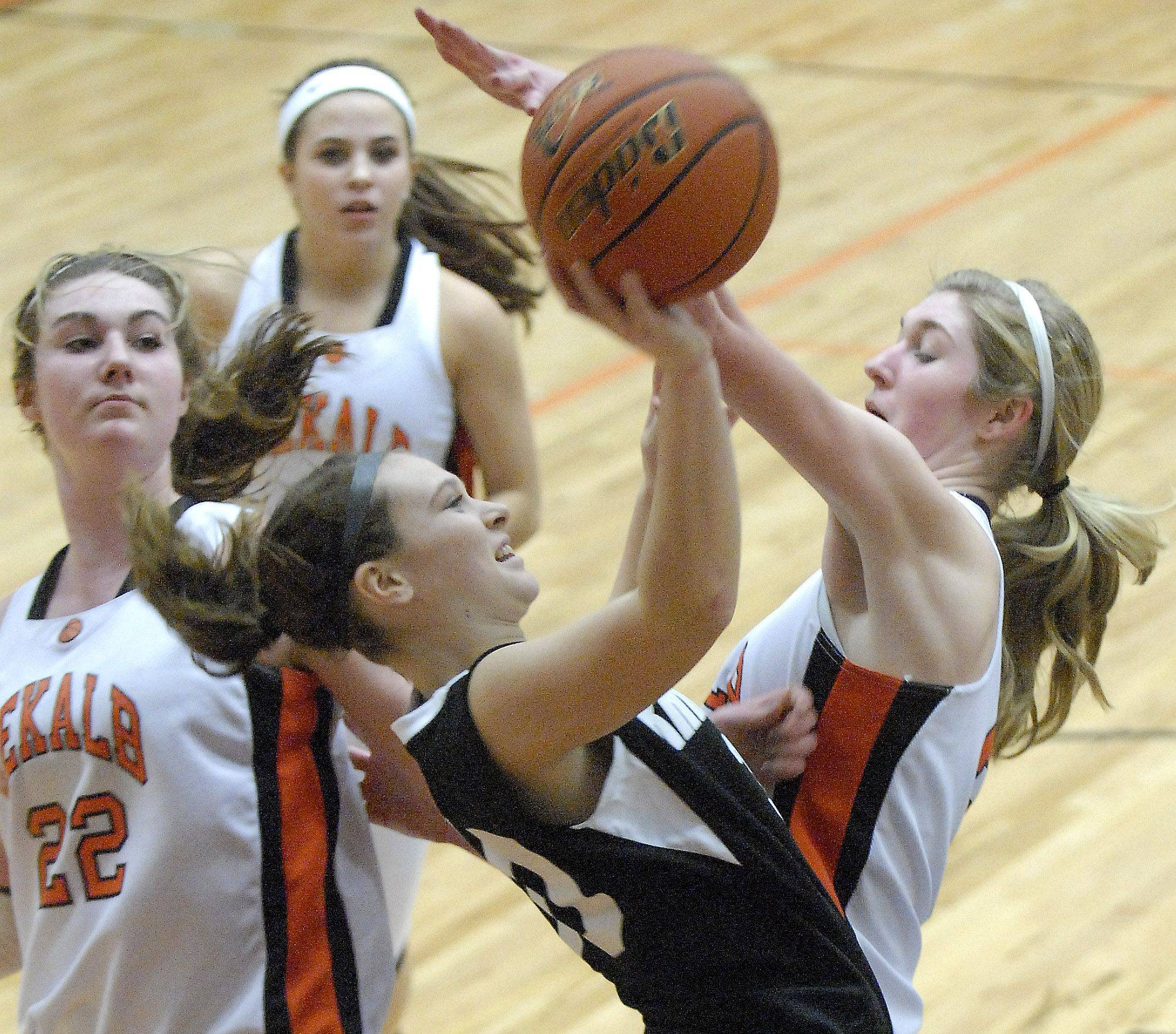 Images from the Kaneland vs. Dekalb girls basketball game Tuesday, January 31, 2012.