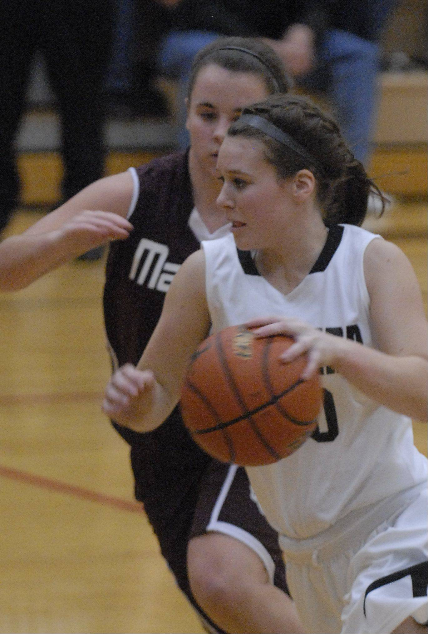 Images from the Marengo vs. Kaneland girls basketball game Tuesday, February 7, 2012.