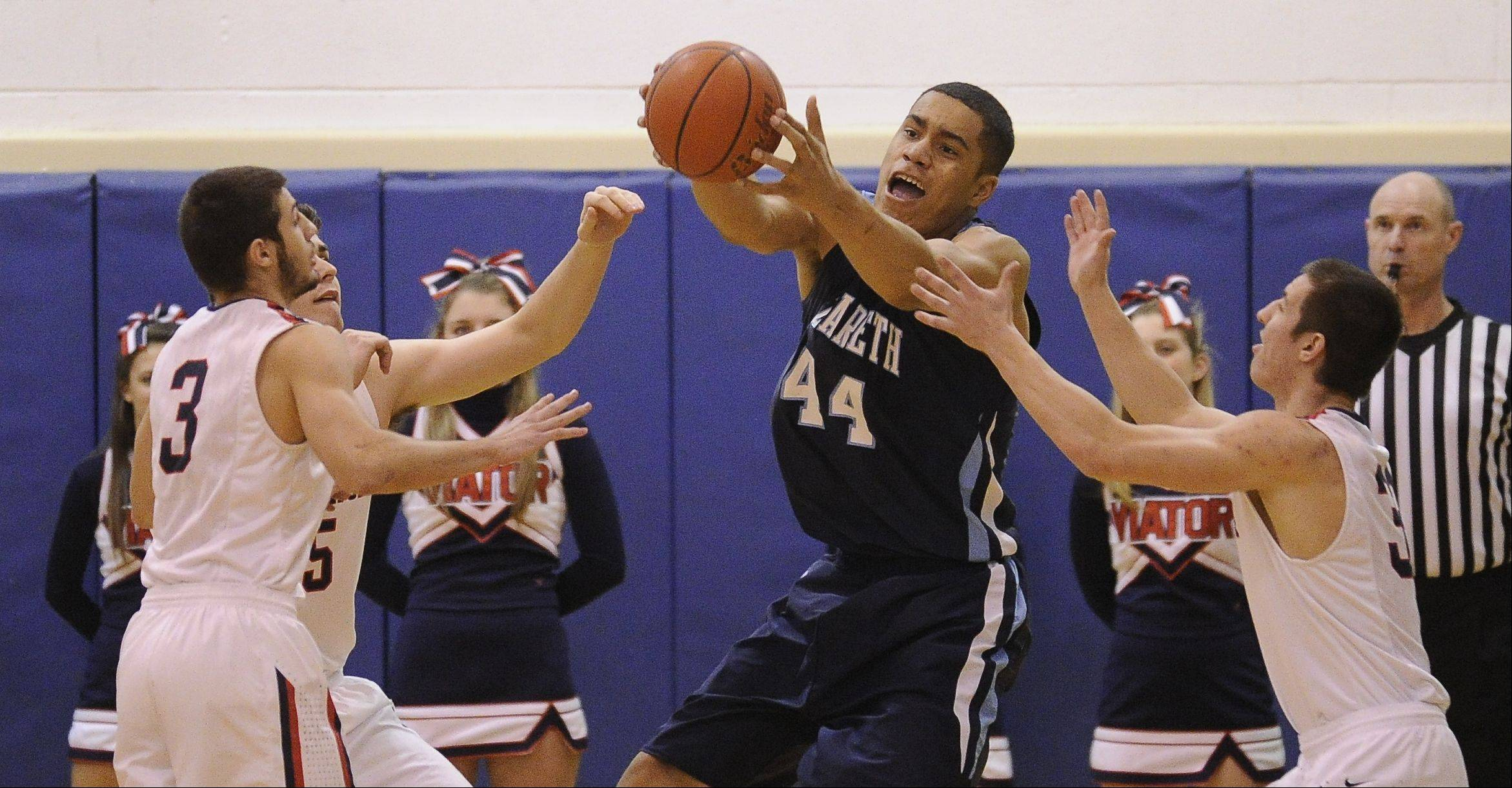 Images from the Nazareth vs. St. Viator boys basketball game in Arlington Heights on Monday, February 13th.