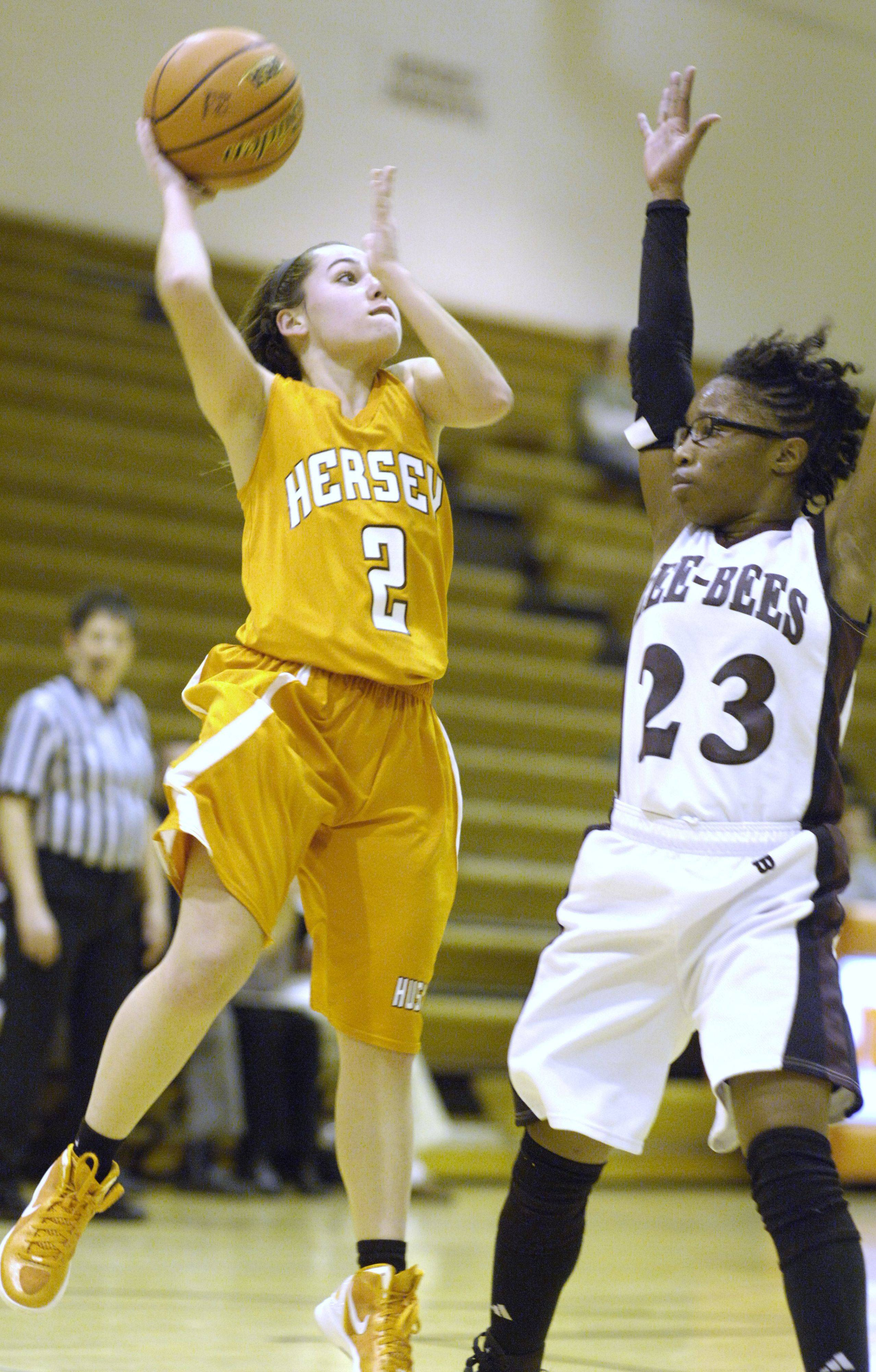 Images from the Hersey vs. Zion-Benton girls basketball regional on Wednesday, February 15th in Arlington Heights.