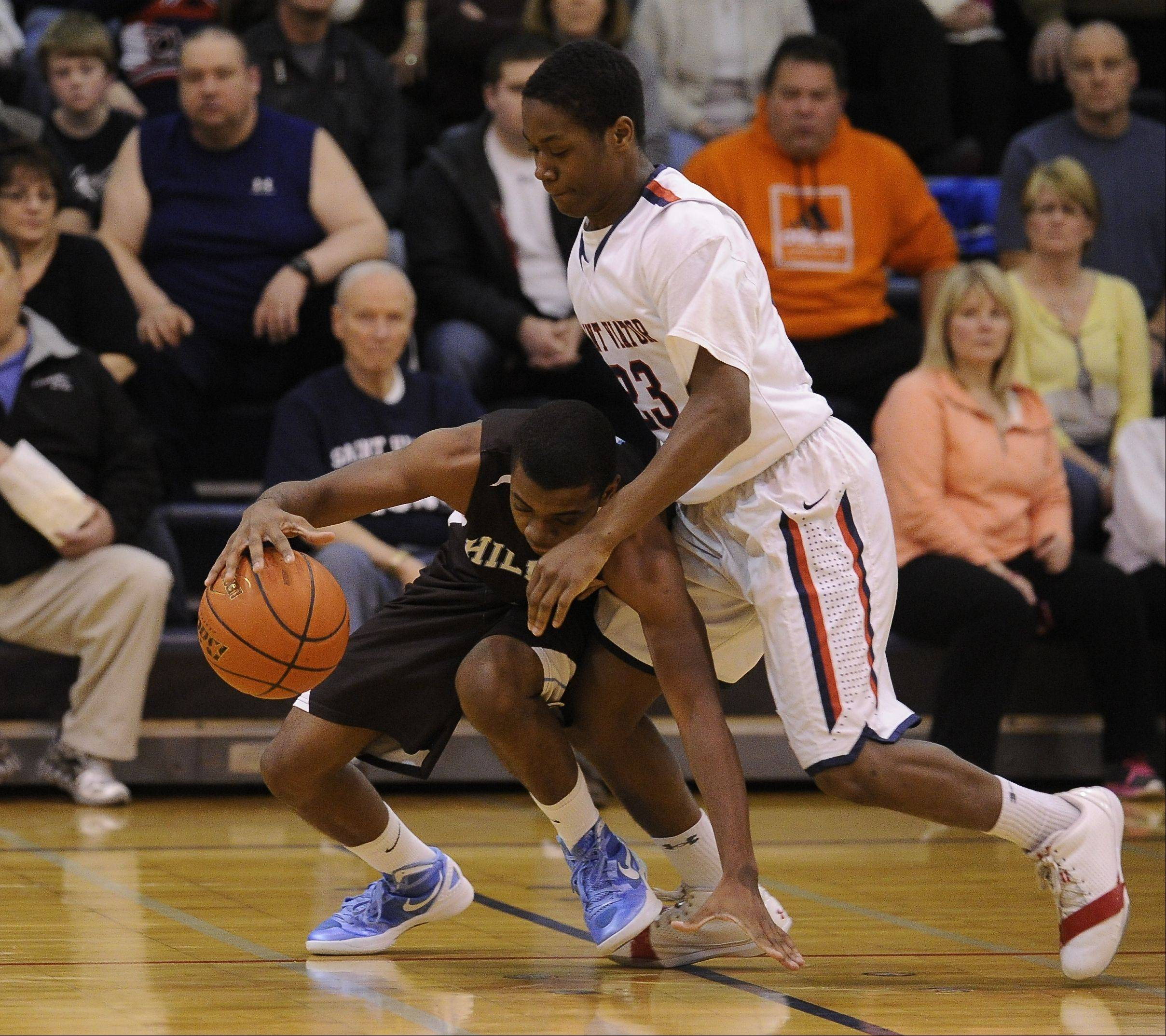 Images from the St. Viator vs. Joliet Catholic boys basketball game in Arlington Heights on Thursday, February 16th.