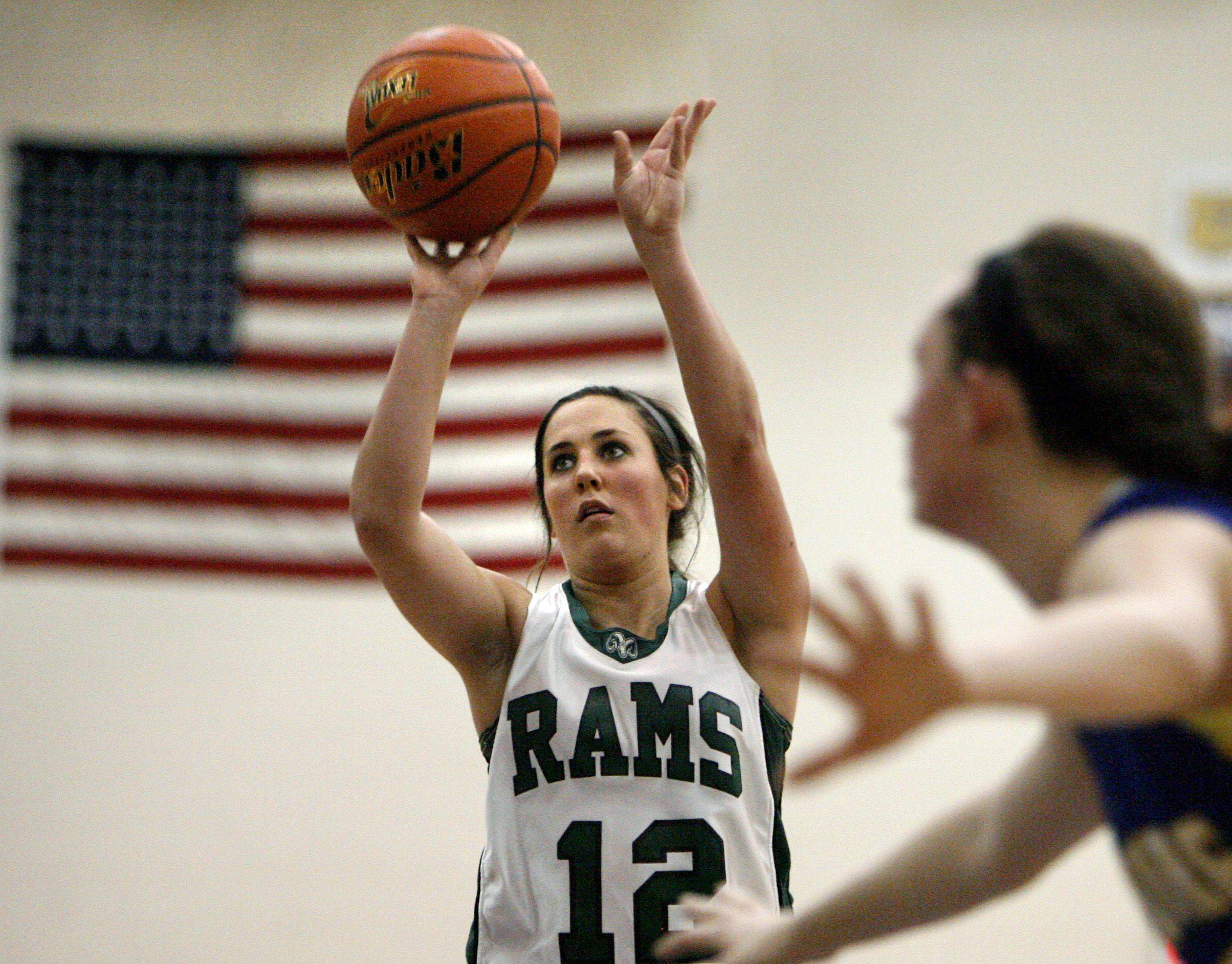 Grayslake Central's Claire Brennan shoots a free throw against Johnsburg in Class 3A regional final play Friday.
