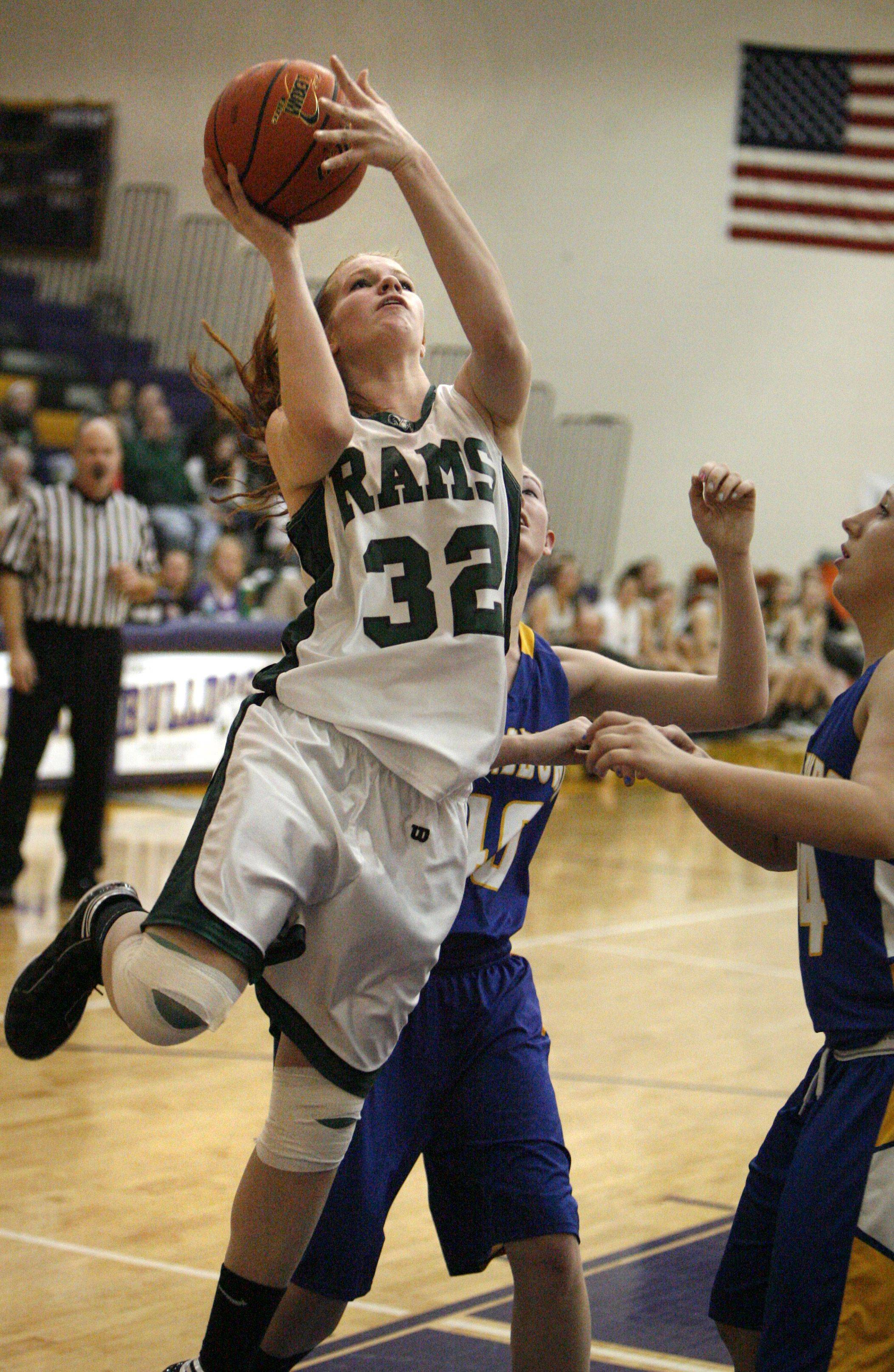 Grayslake Central's Morgan Dahlstrom shoots against Johnsburg in Class 3A regional final play Friday.