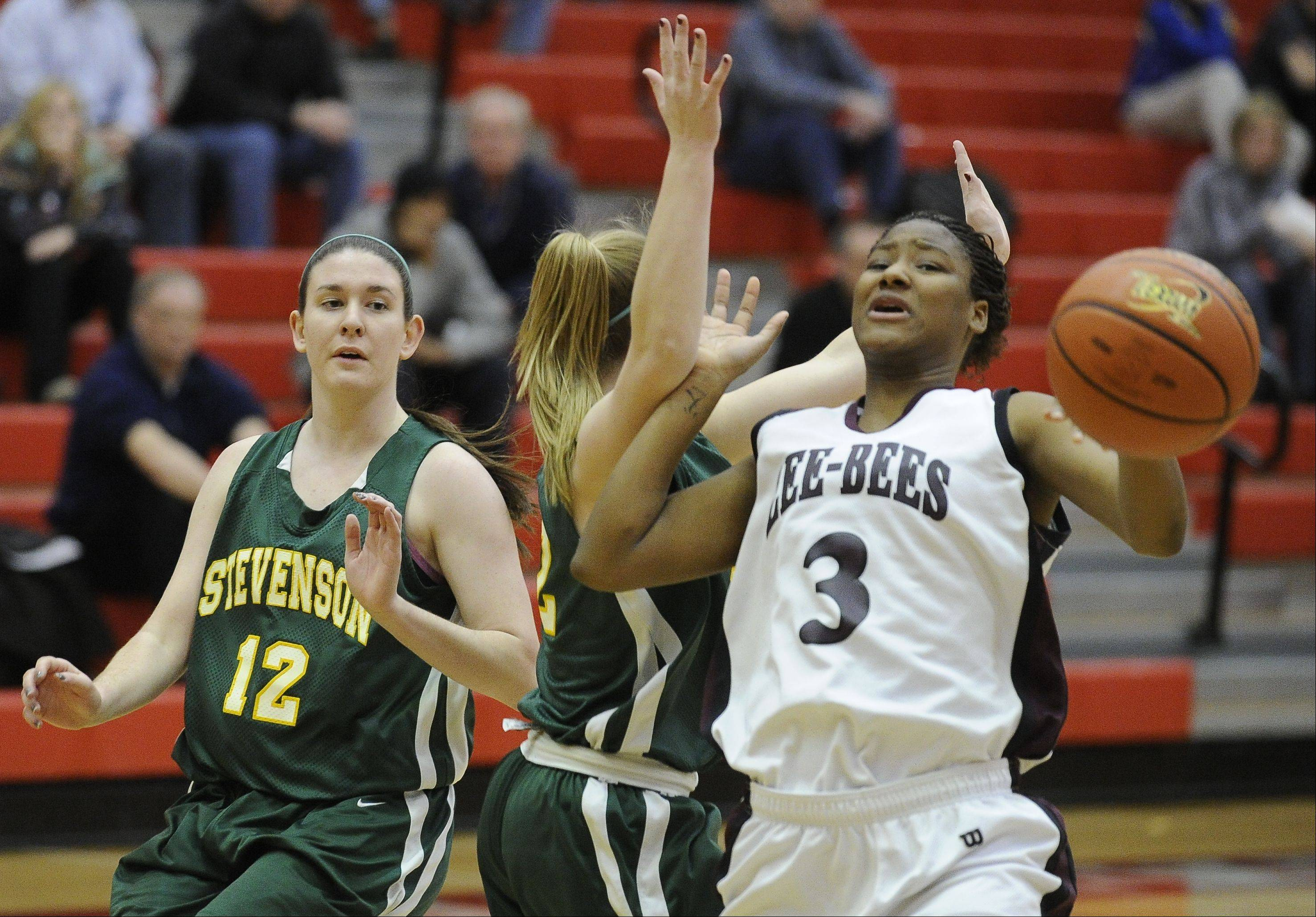 Images from the Zion-Benton vs. Stevenson girls sectional semifinal basketball game in Palatine on Monday, Feb. 20 , 2012.