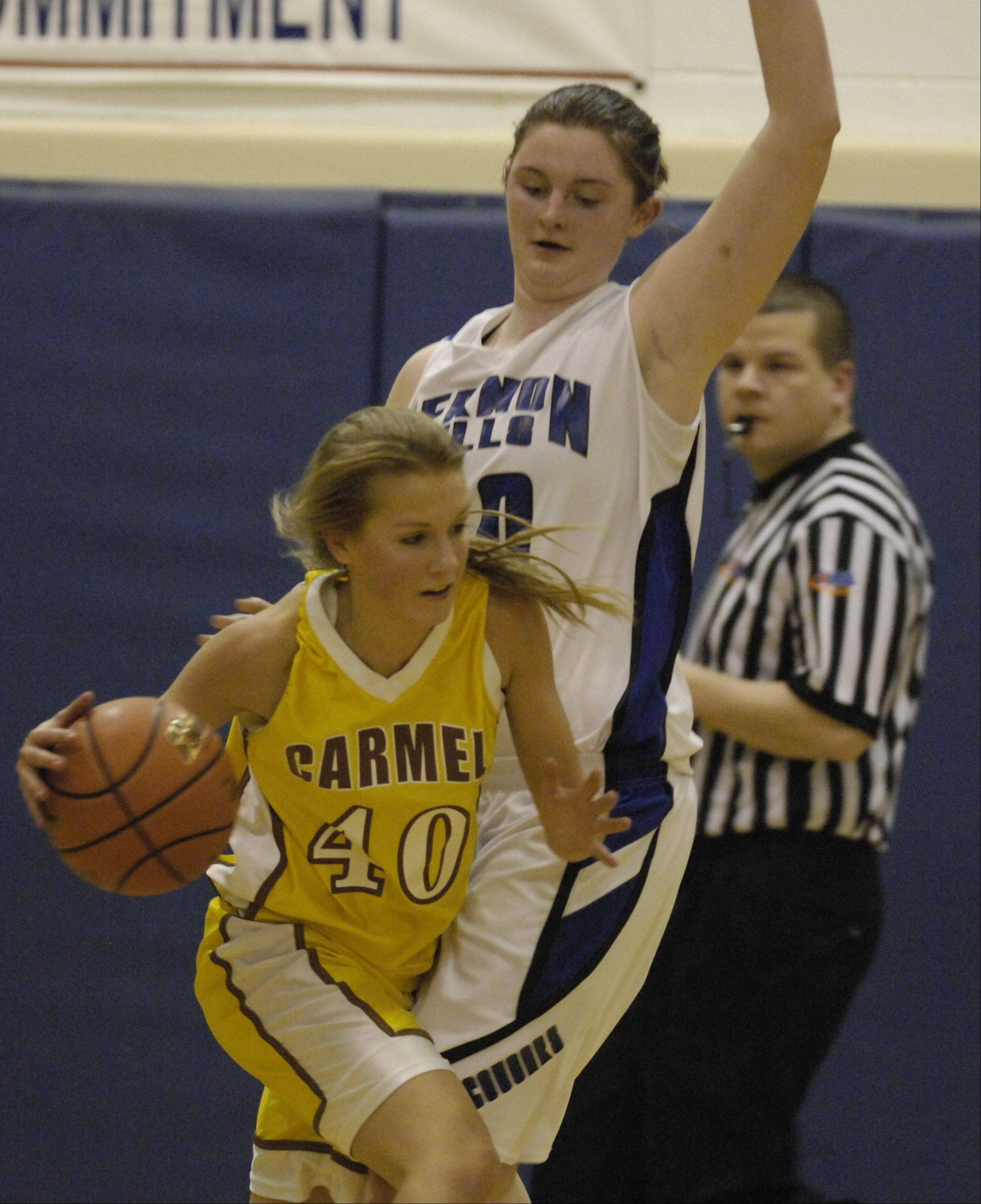 Images from the Vernon Hills vs. Carmel girls sectional semifinal basketball game in Arlington Heights on Tuesday, Feb. 21 , 2012.