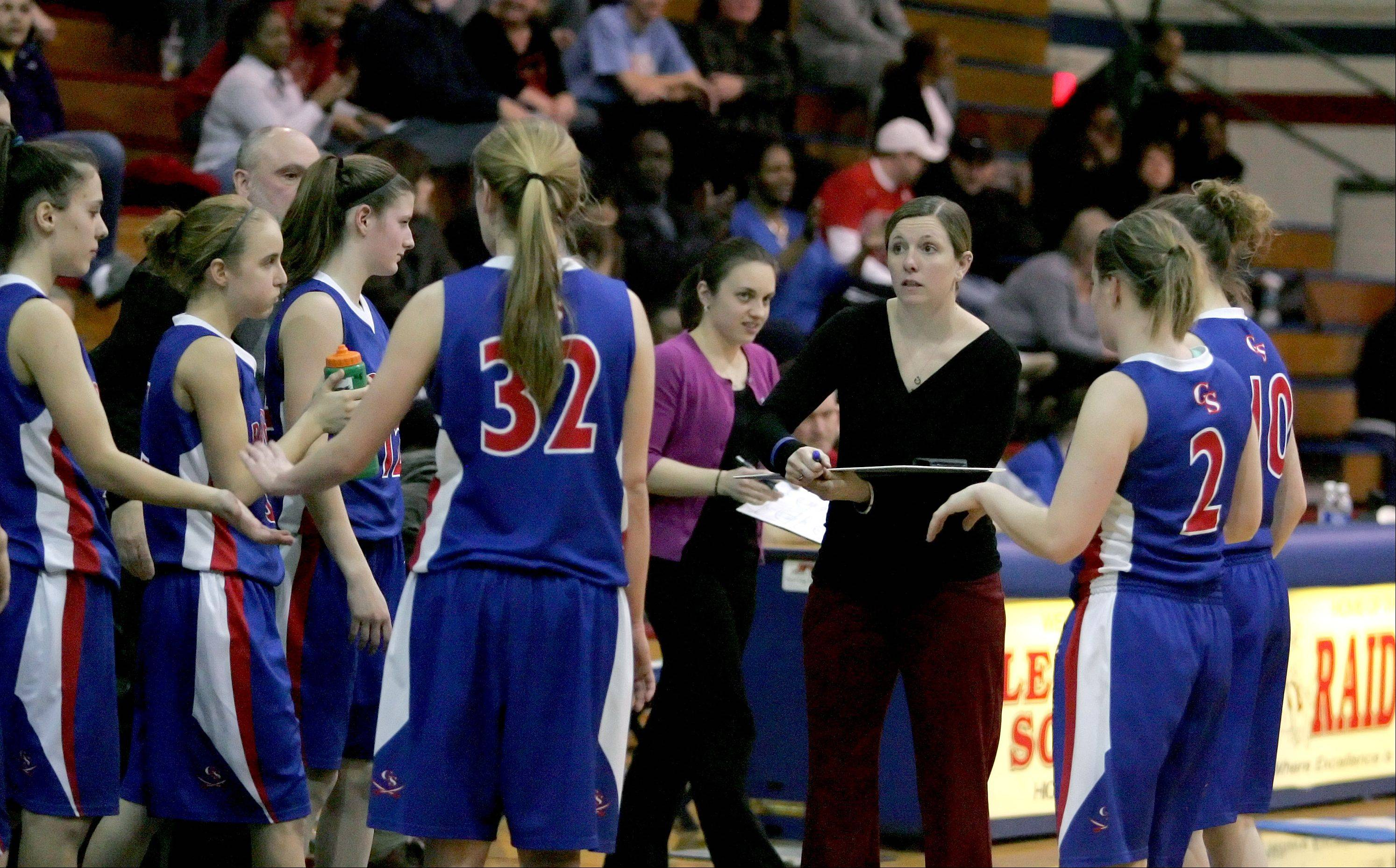 Glenbard South hosted St. Joseph Tuesday for Class 3A girls basketball sectional semifinal.
