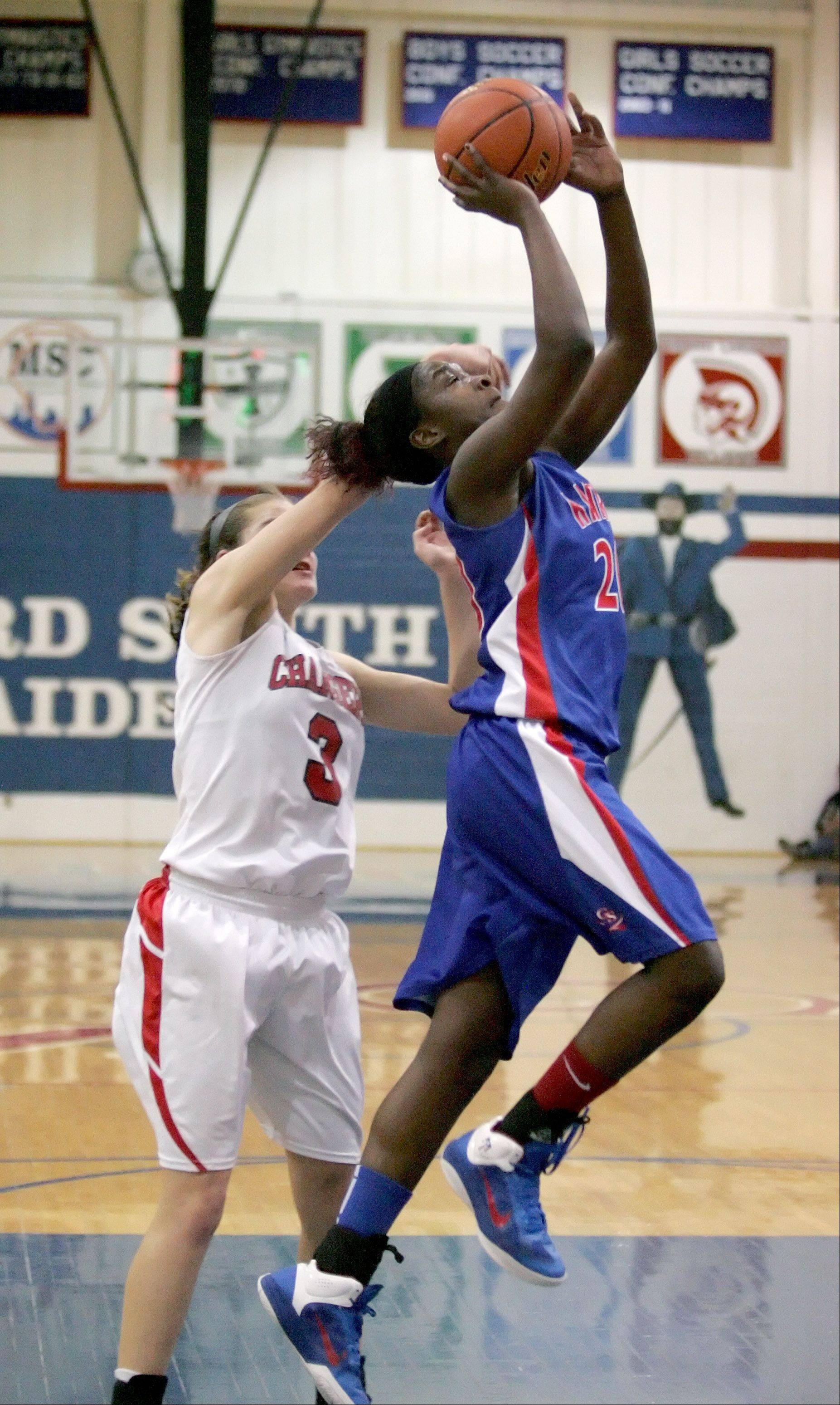 Patrice Hicks of Glenbard South shoots the ball against St. Joseph.