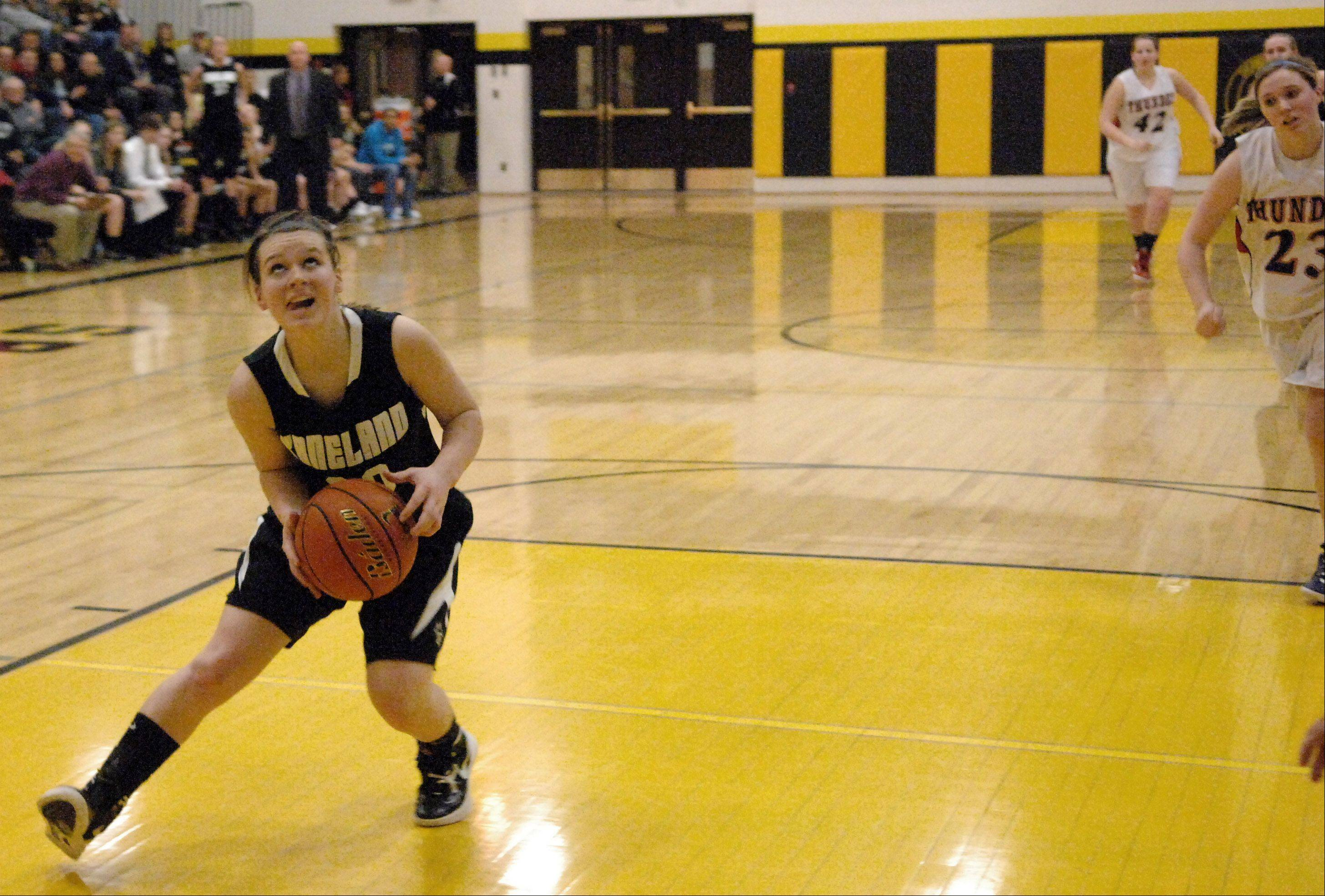 Images from the Kaneland vs. Belvidere North girls sectional basketball game Thursday, February 23, 2012.
