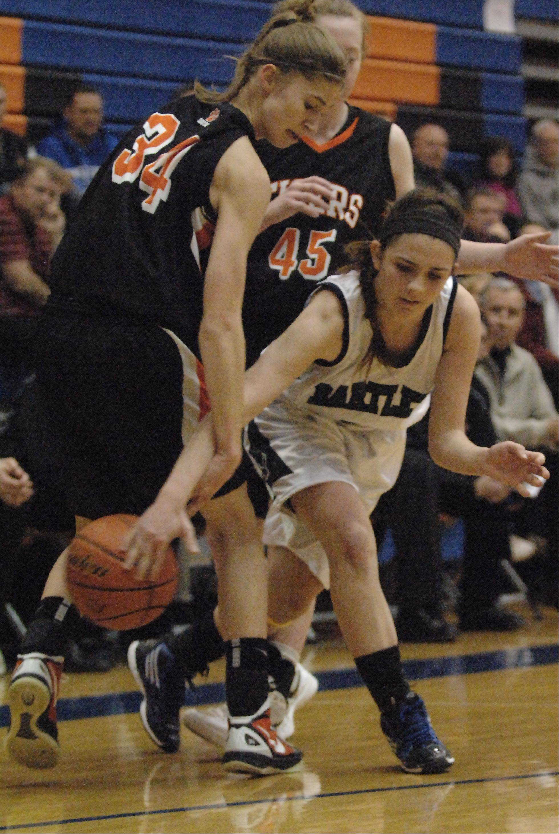 Images from the Bartlett vs. Wheaton Warrenville South girls sectional basketball game Thursday, February 23, 2012.
