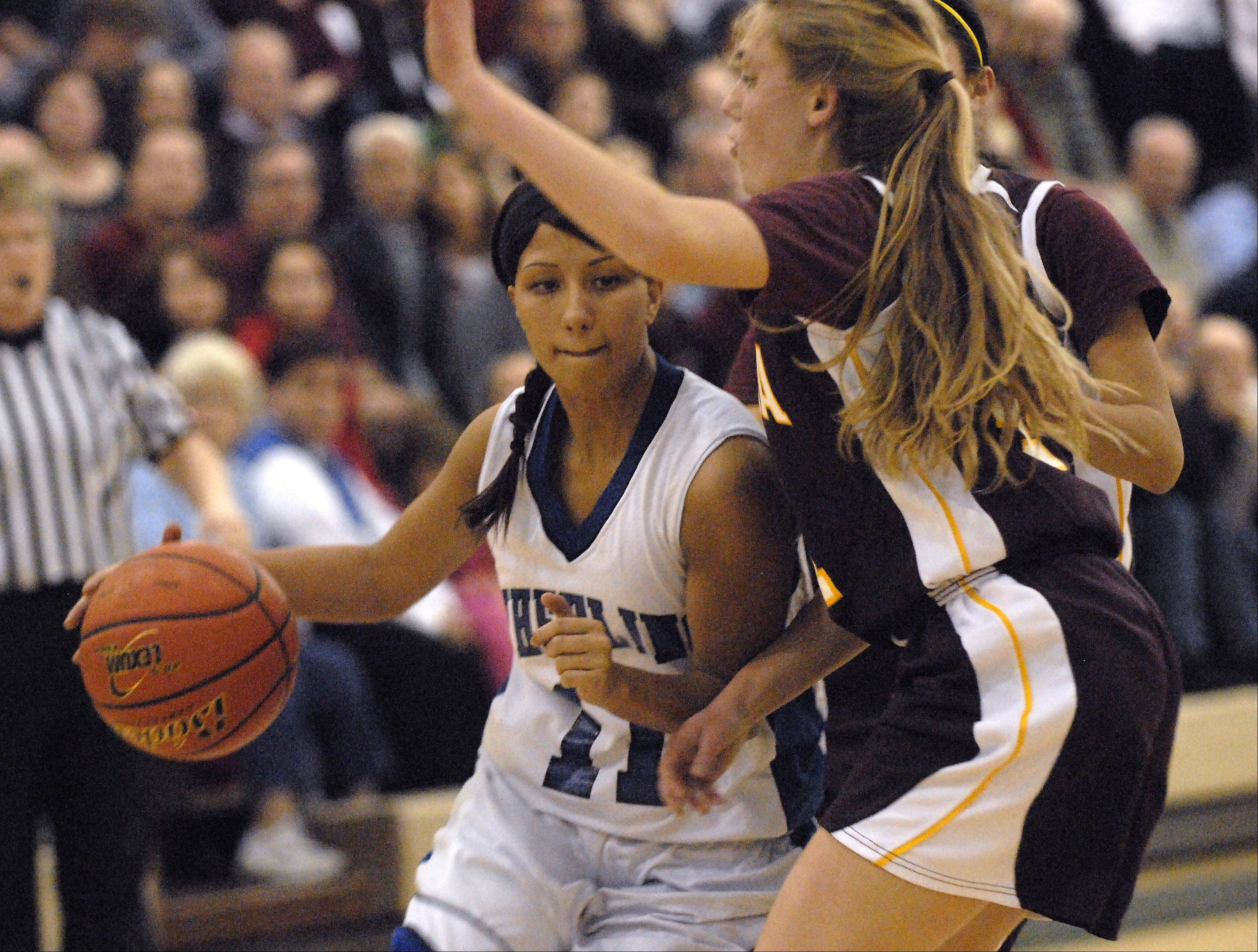 Images: Wheeling vs Loyola Academy, girls 4A supersectional basketball
