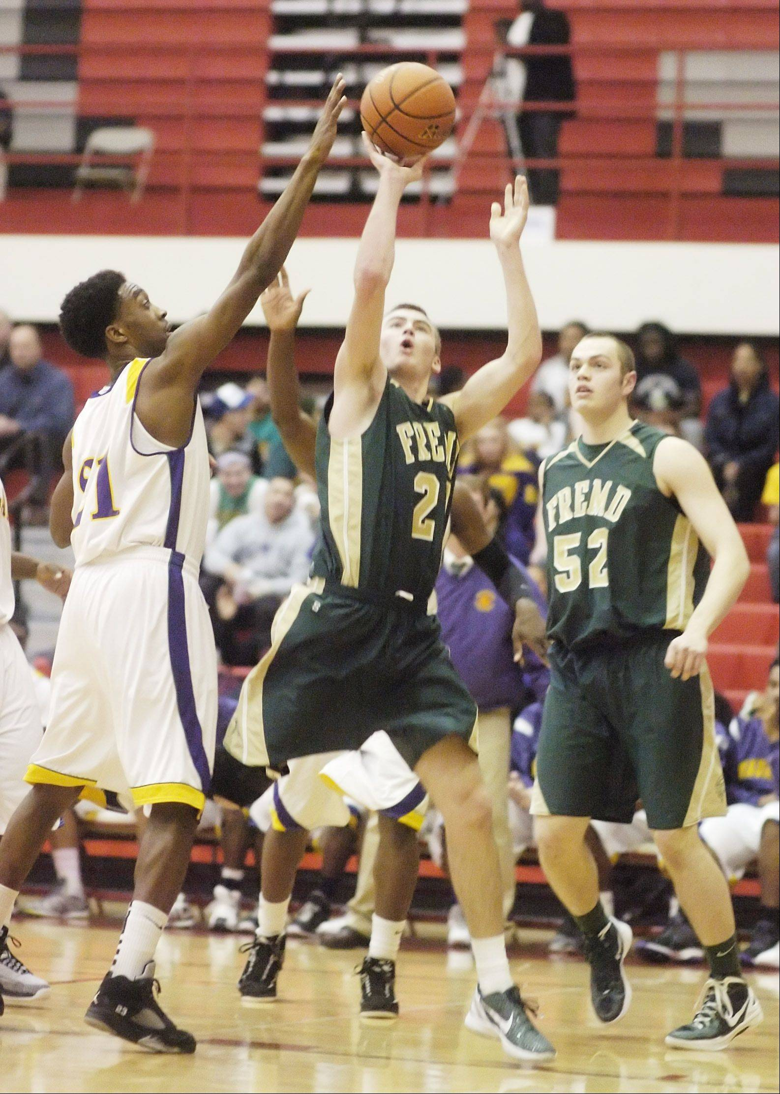Images from the Waukegan vs. Fremd boys regional semifinal basketball game in Palatine on Tuesday, February 28th.