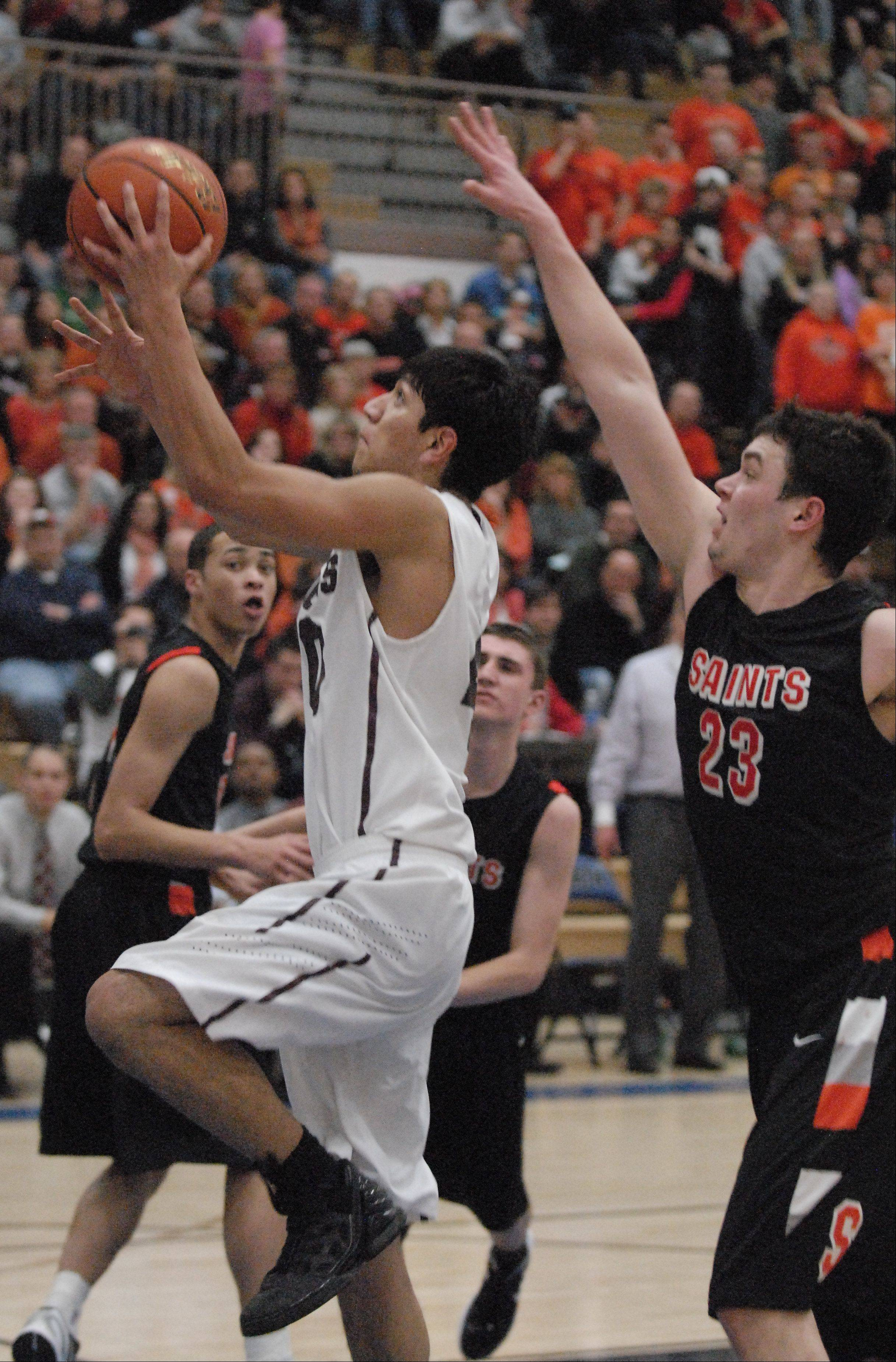 Images from Elgin vs. St. Charles East in championship game of Class 4A St. Charles North regional.