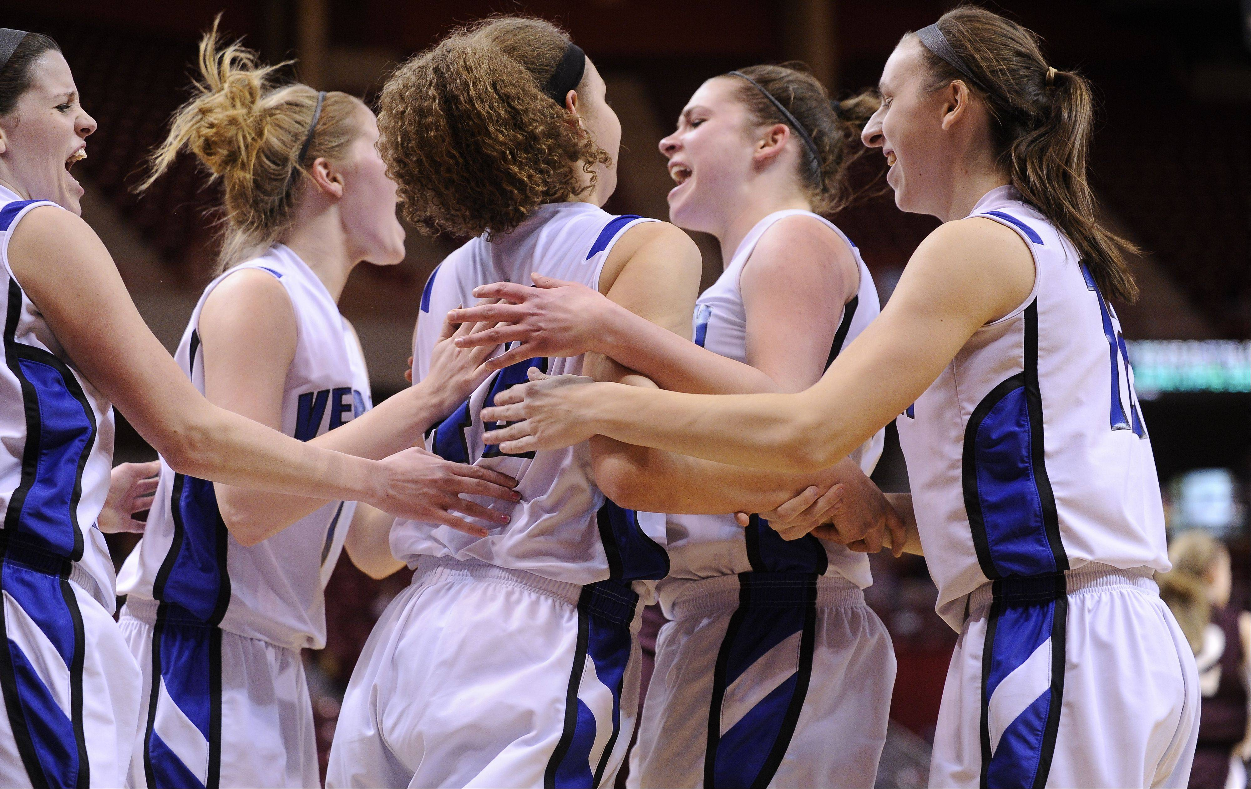 Images from the Vernon Hills vs. Montini Class 3A state girls basketball championship game at Redbird Arena on Saturday, March 3 in Normal.