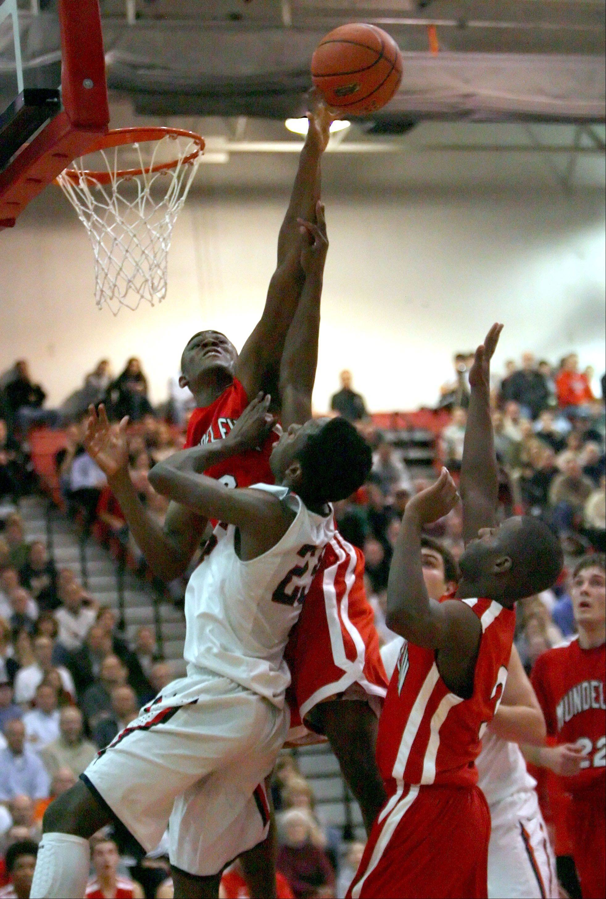 Images from the Mundelein vs. St. Viator boys basketball game on Wednesday, March 7 in Barrington.
