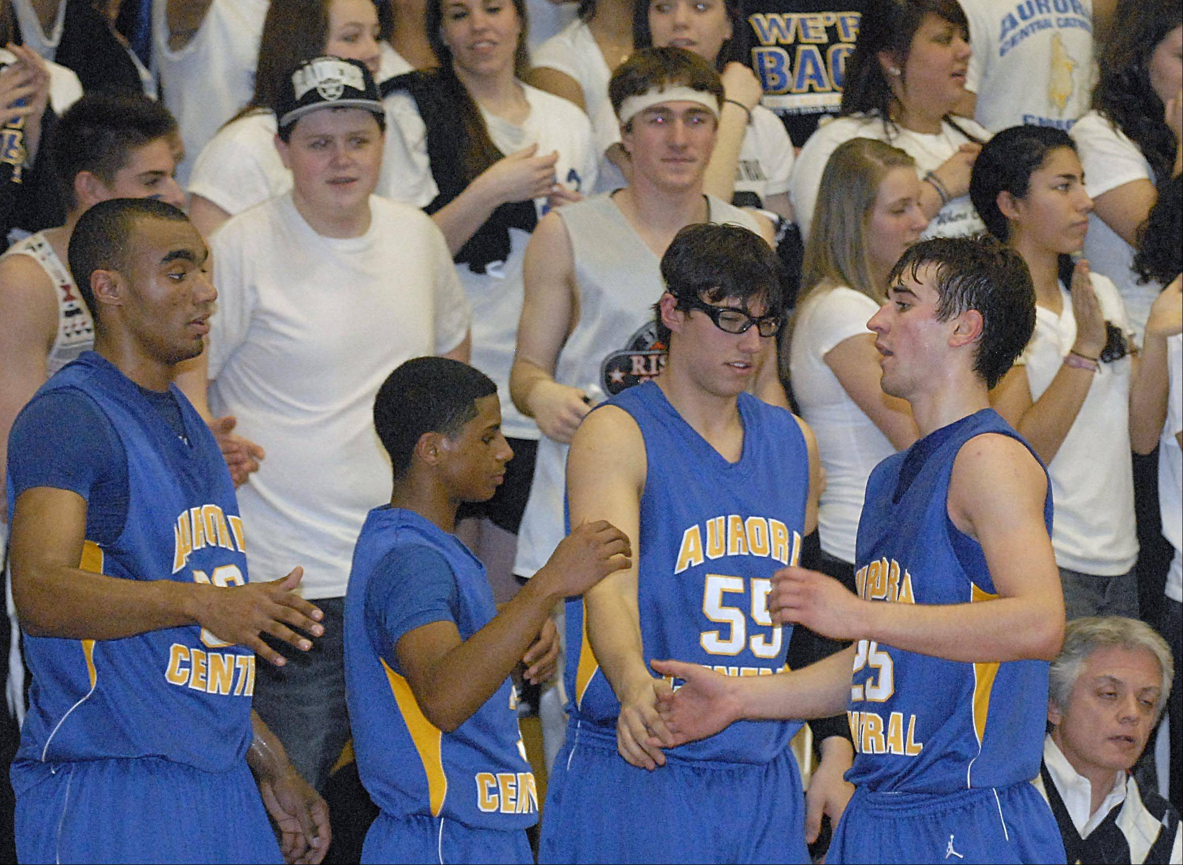 Images from the Aurora Central vs. Johnsburg boys sectional basketball game Wednesday, March 7, 2012.