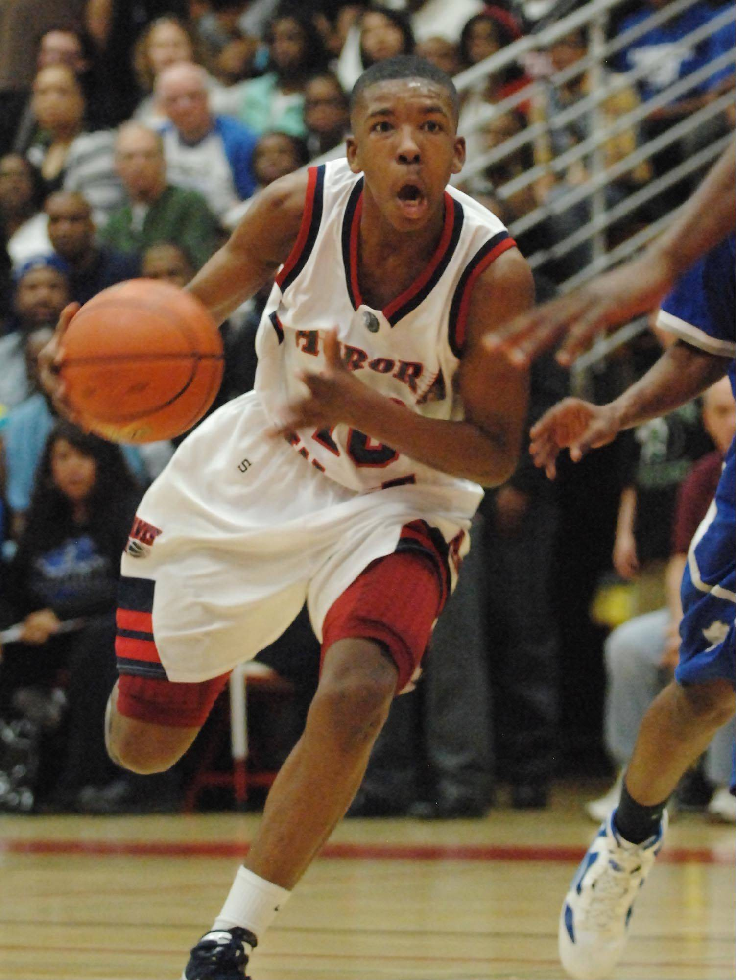 Images from the West Aurora vs. Proviso East boys supersectional basketball game Tuesday, March 13, 2012.
