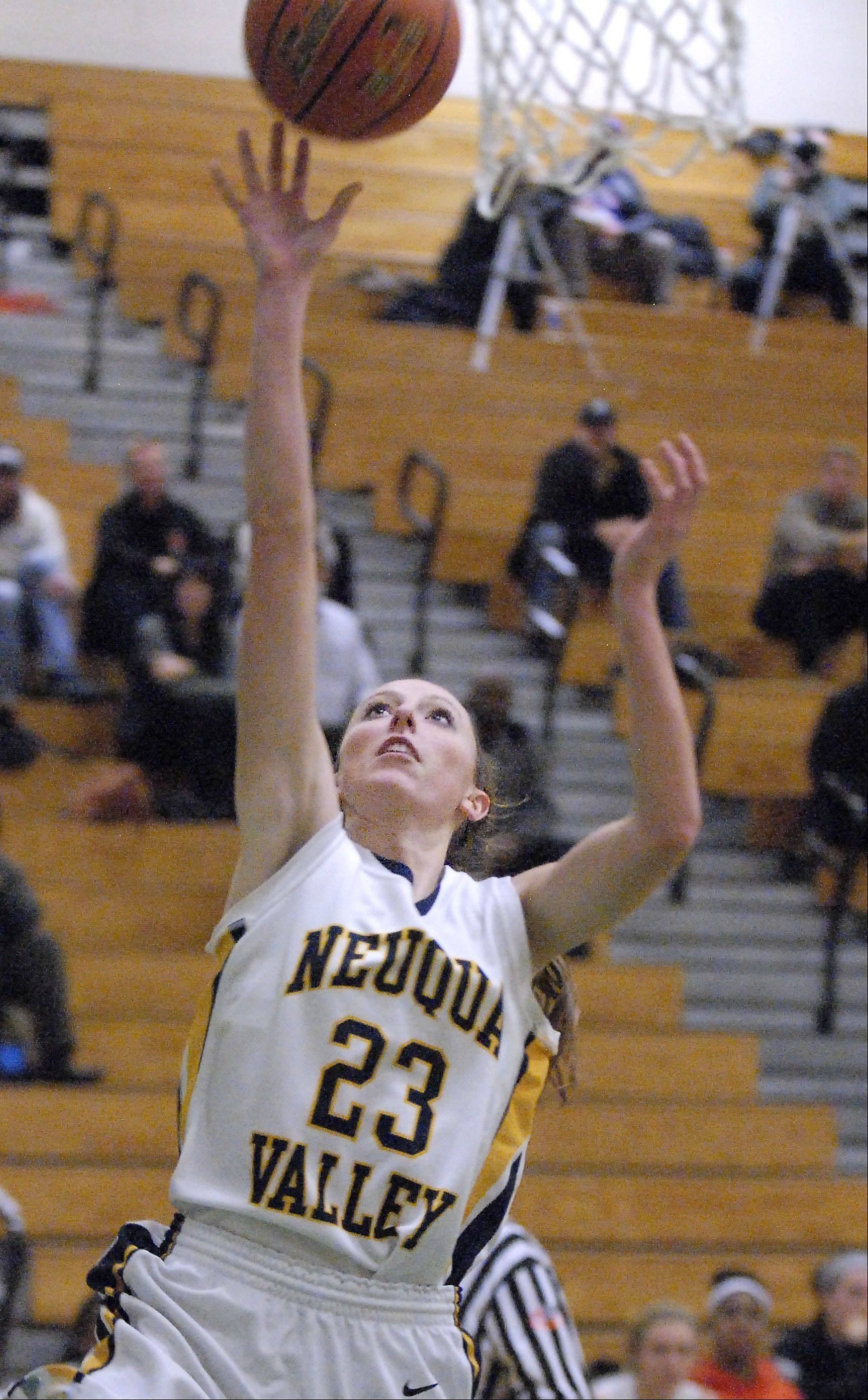 Nequa Valley's Allison Hedrick sinks a shot in the third quarter on Wednesday, November 14.
