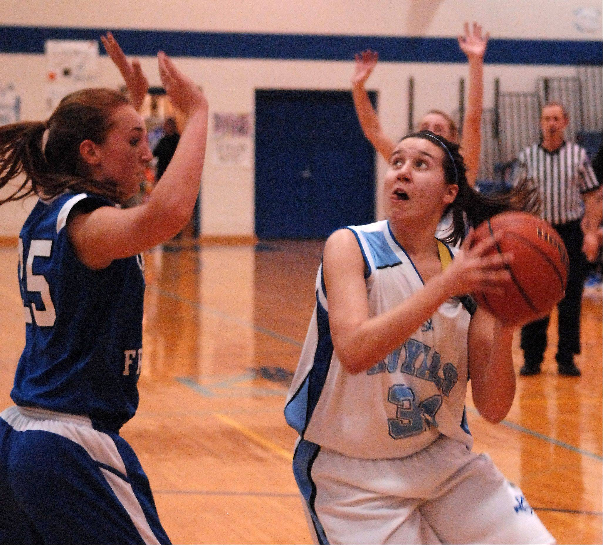 Maddy Hemmerich is one of the returnees new coach Jessie Wilcox is counting on in her first year at Rosary.