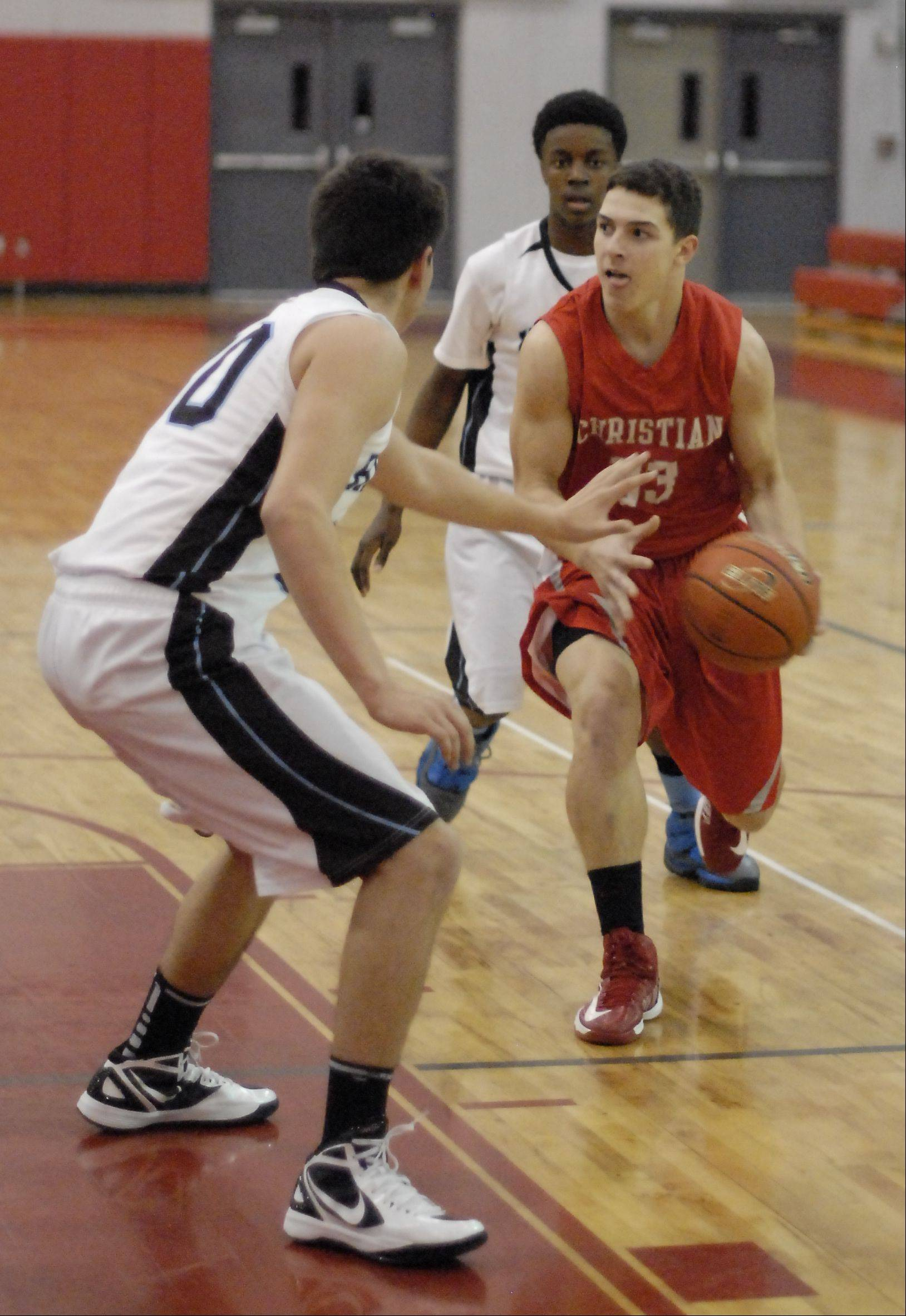 Images from the Aurora Christian vs. Joliet Catholic boys basketball game Wednesday, November 28, 2012.
