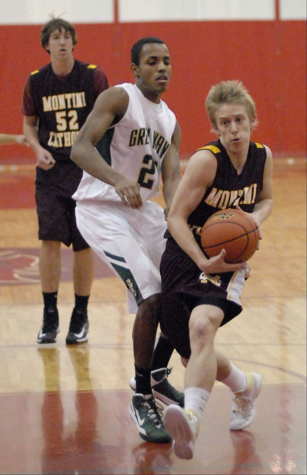 Images from the St. Edward vs. Montini boys basketball game Wednesday, November 28, 2012.