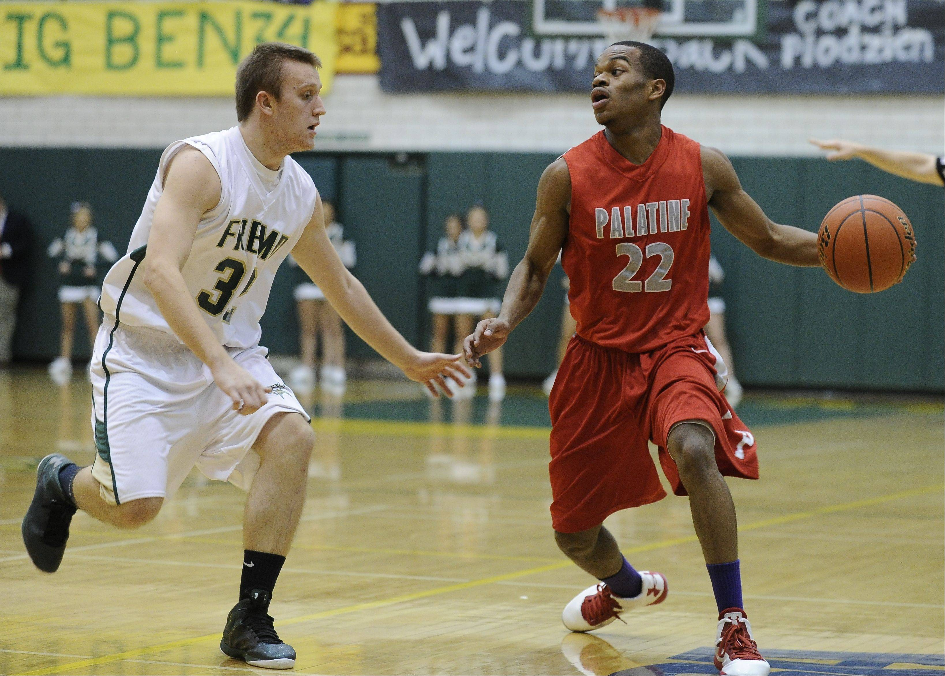 Images from the Palatine vs. Fremd boys basketball game Friday, November 30th, in Palatine.
