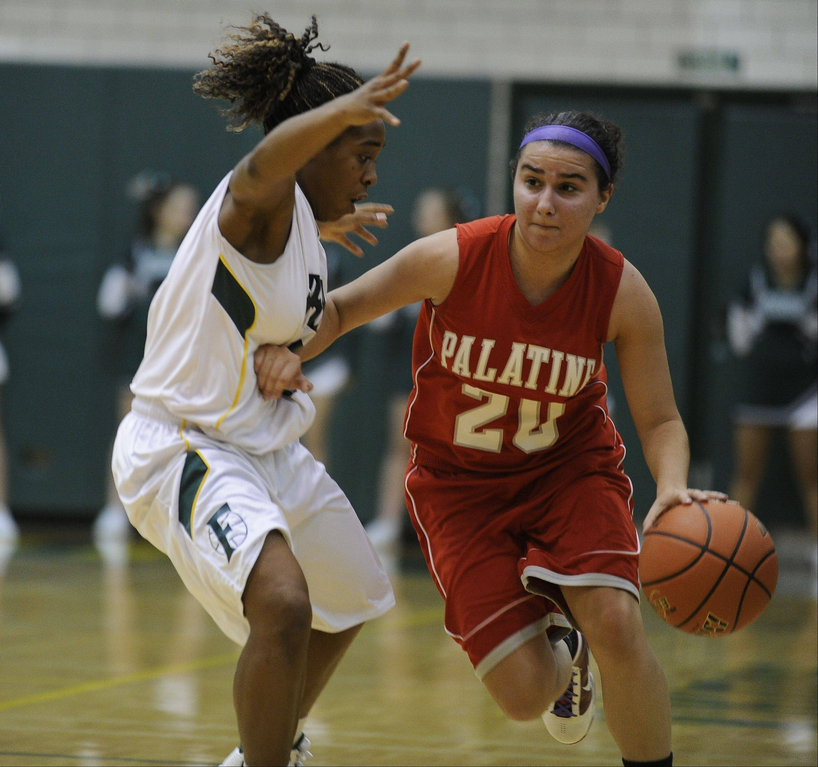 Images from the Palatine vs. Fremd girls basketball game Friday, November 30th, in Palatine.