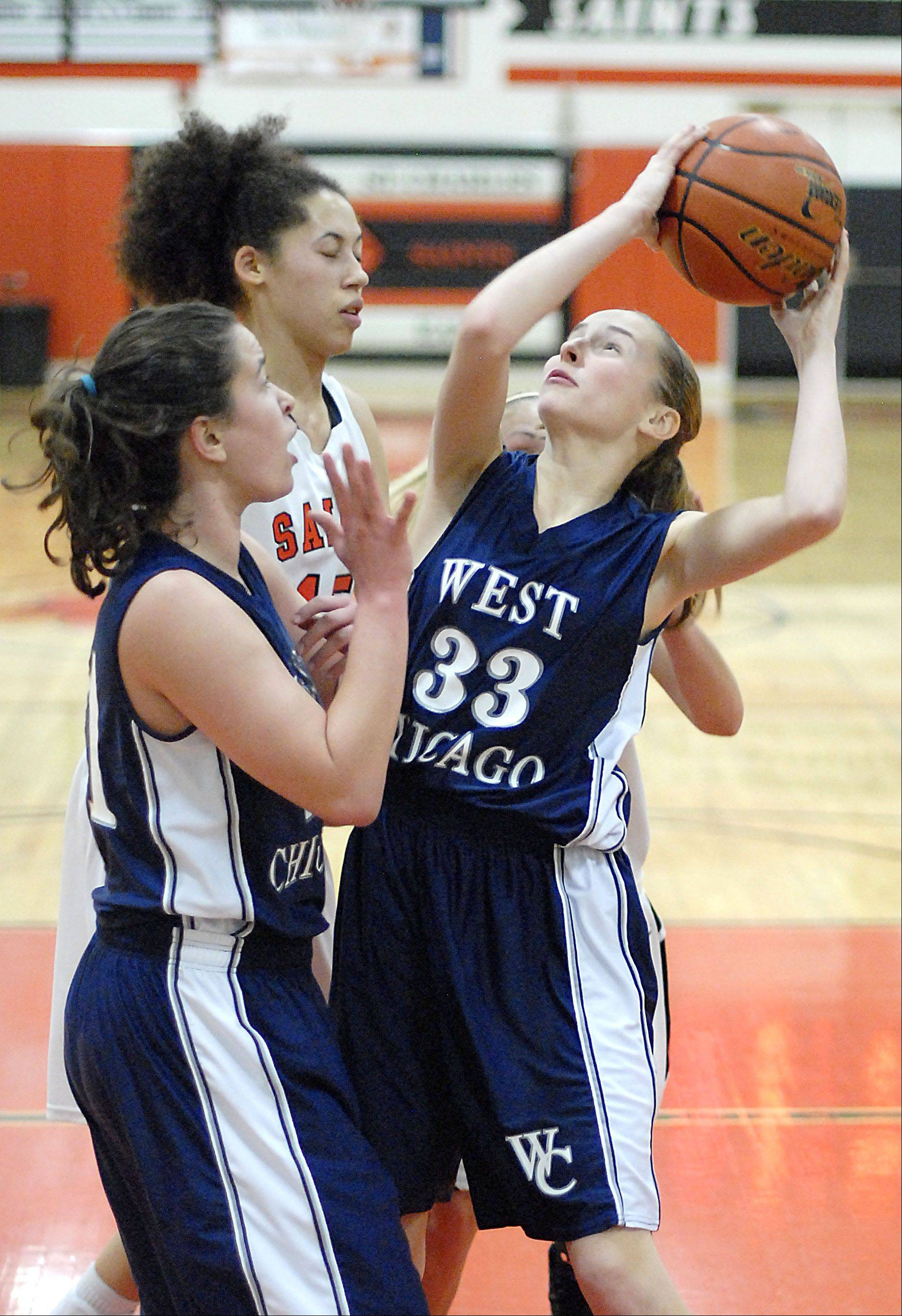 Images from the West Chicago vs. St. Charles East girls basketball game Tuesday, December 4, 2012.