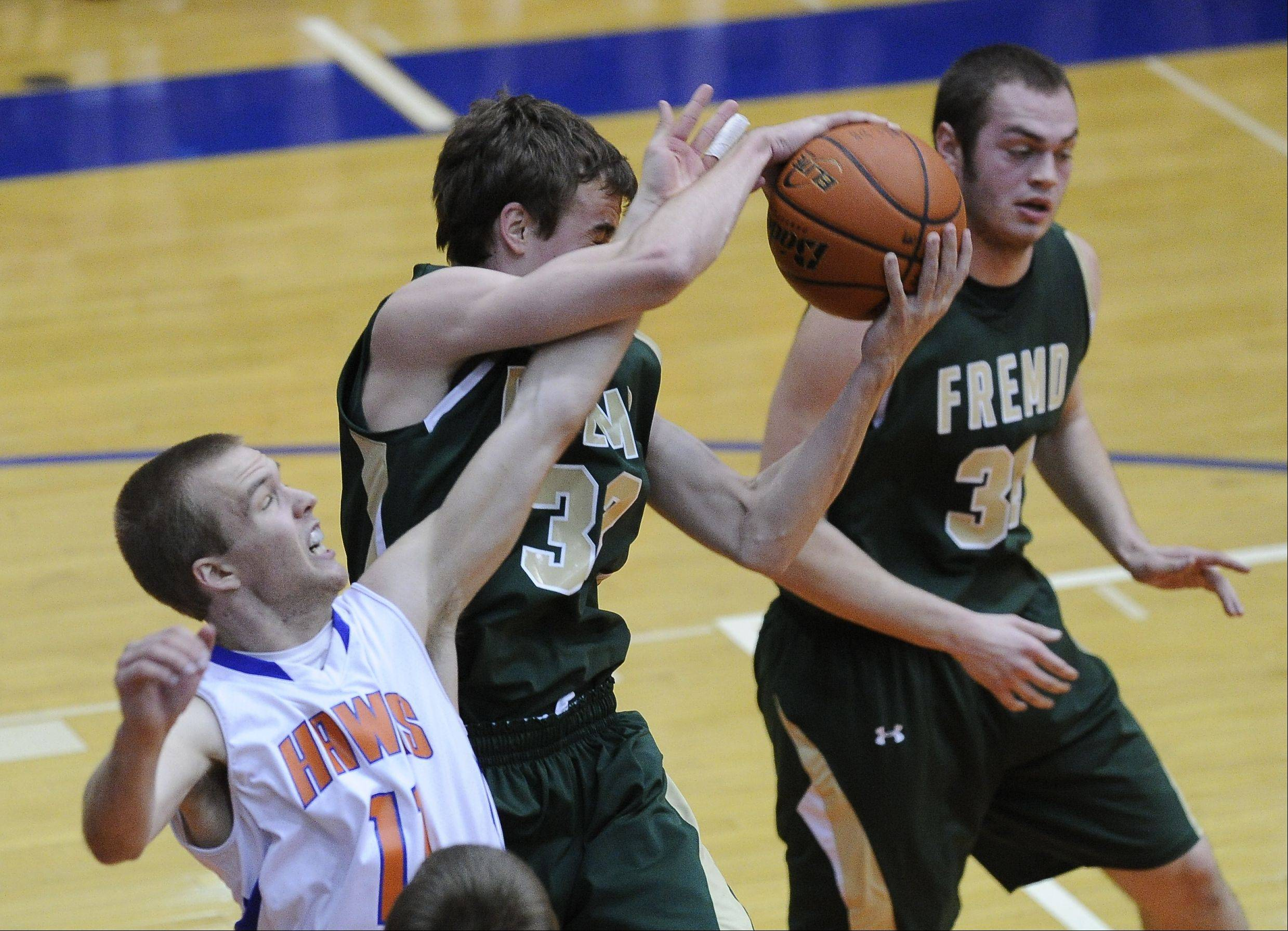 Images from the Fremd vs. Hoffman Estates boys basketball game on Thursday, December 6th, in Hoffman Estates.