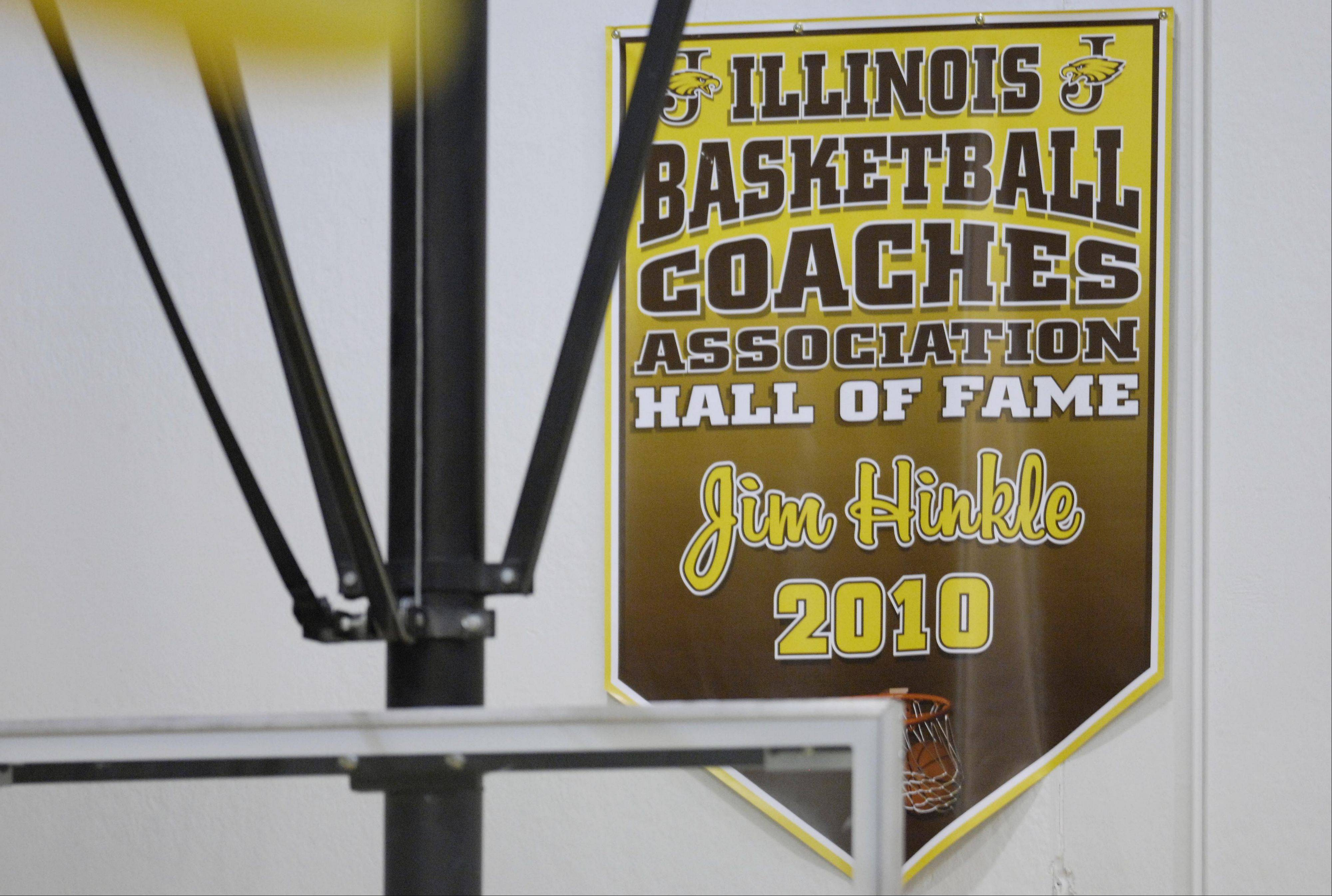 Hinkle has been a boys basketball head coach for 39 seasons and was elected to the Illinois Basketball Coaches Association Hall of Fame.
