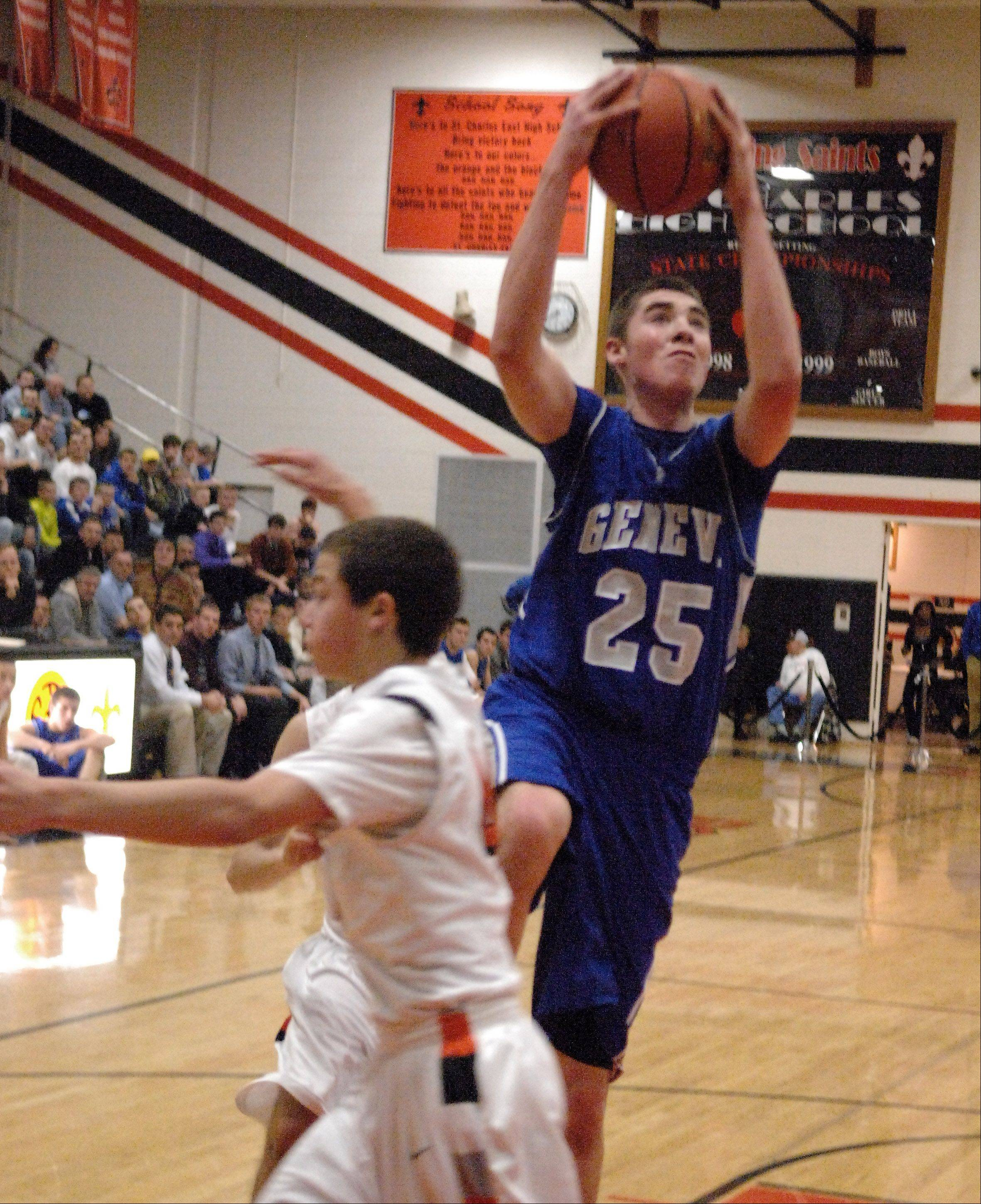 Images from the Geneva vs. St. Charles East boys basketball game Friday, December 7, 2012.