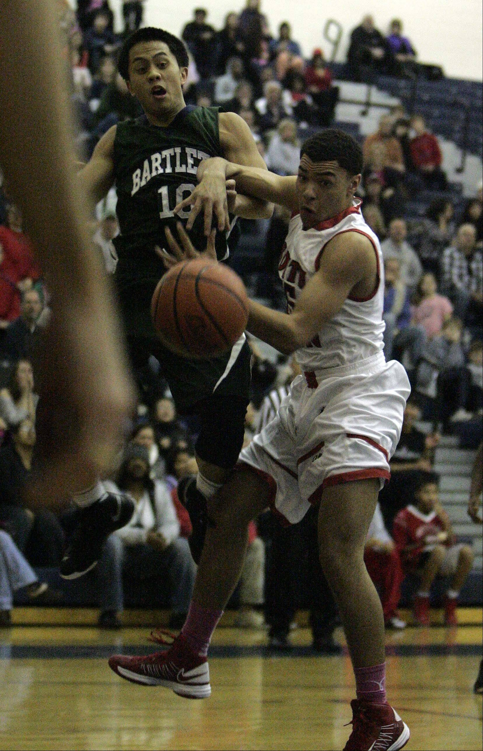 Images from the Bartlett vs. South Elgin boys basketball game Friday, December 7, 2012.