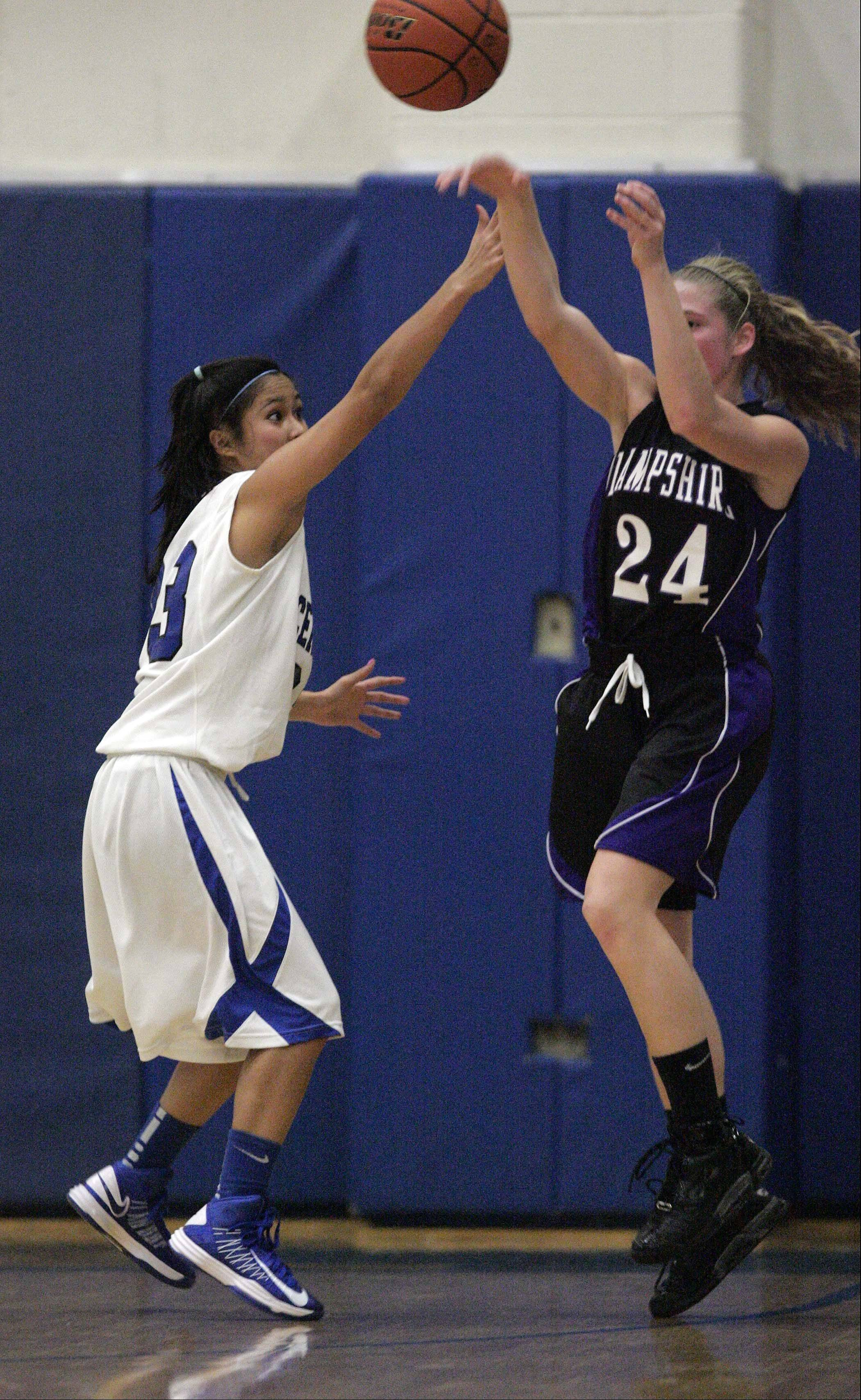 Images from the Hampshire vs. Burlington Central girls basketball game Saturday, December 8, 2012.