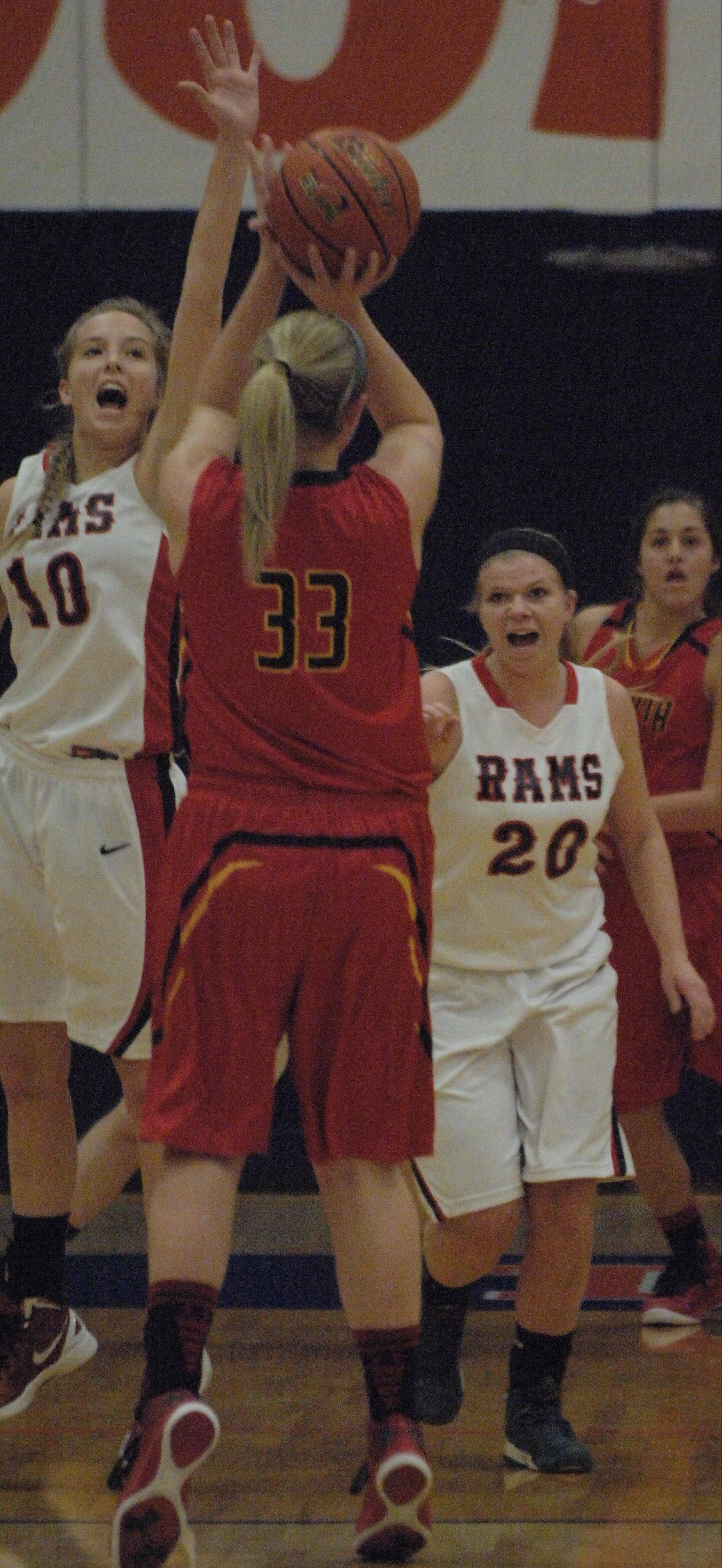 Erin Bayram fires a jumper for Batavia in their win over Glenbard East on Saturday in Oswego.