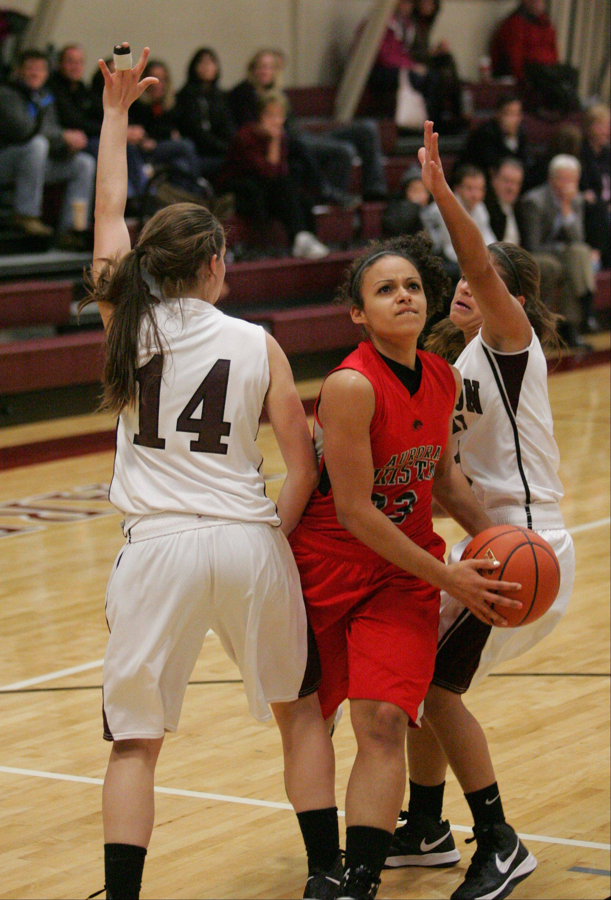 Images from the Wheaton Academy vs. Aurora Christian girls basketball game on Monday, Dec. 10, 2012.