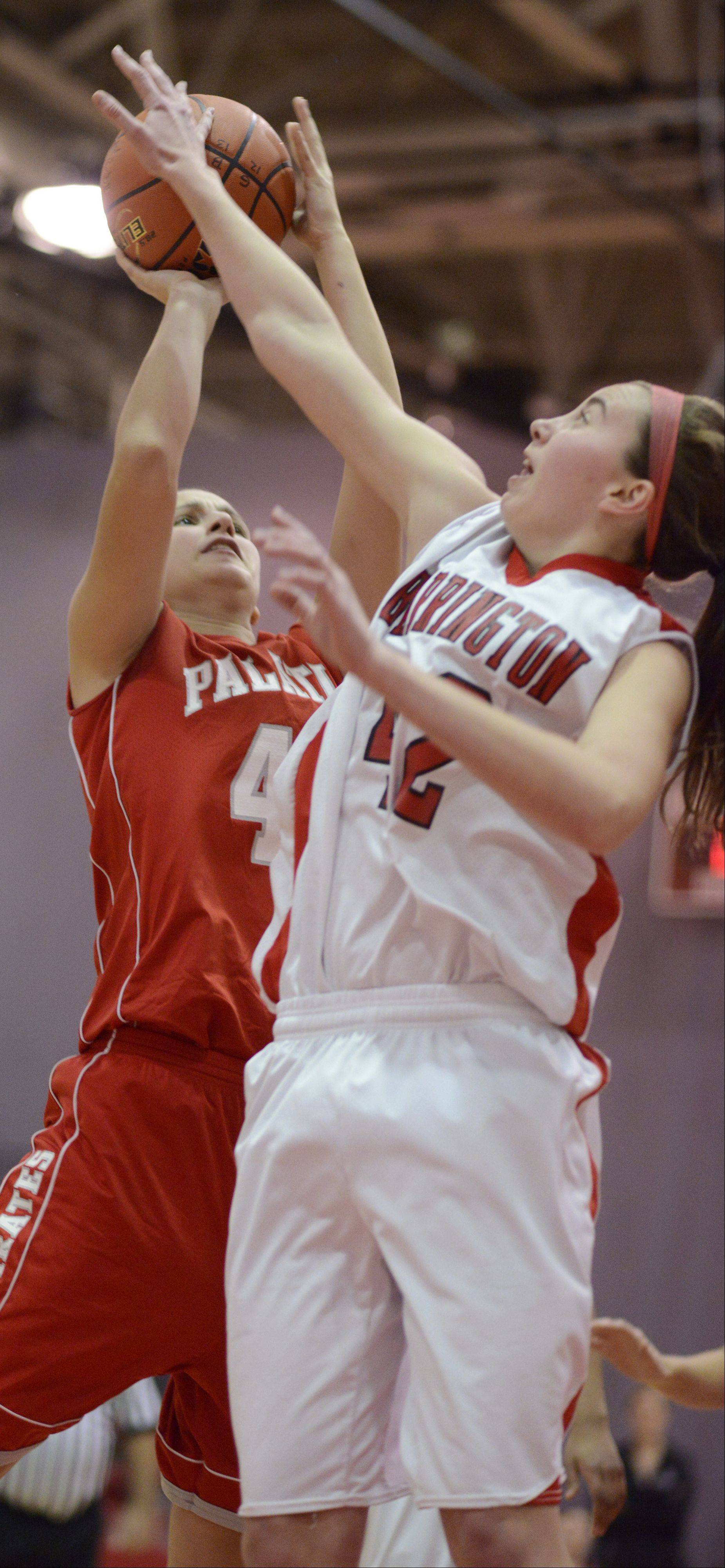 Images from the Palatine vs. Barrington girls basketball game on Tuesday, December 11th, in Barrington.