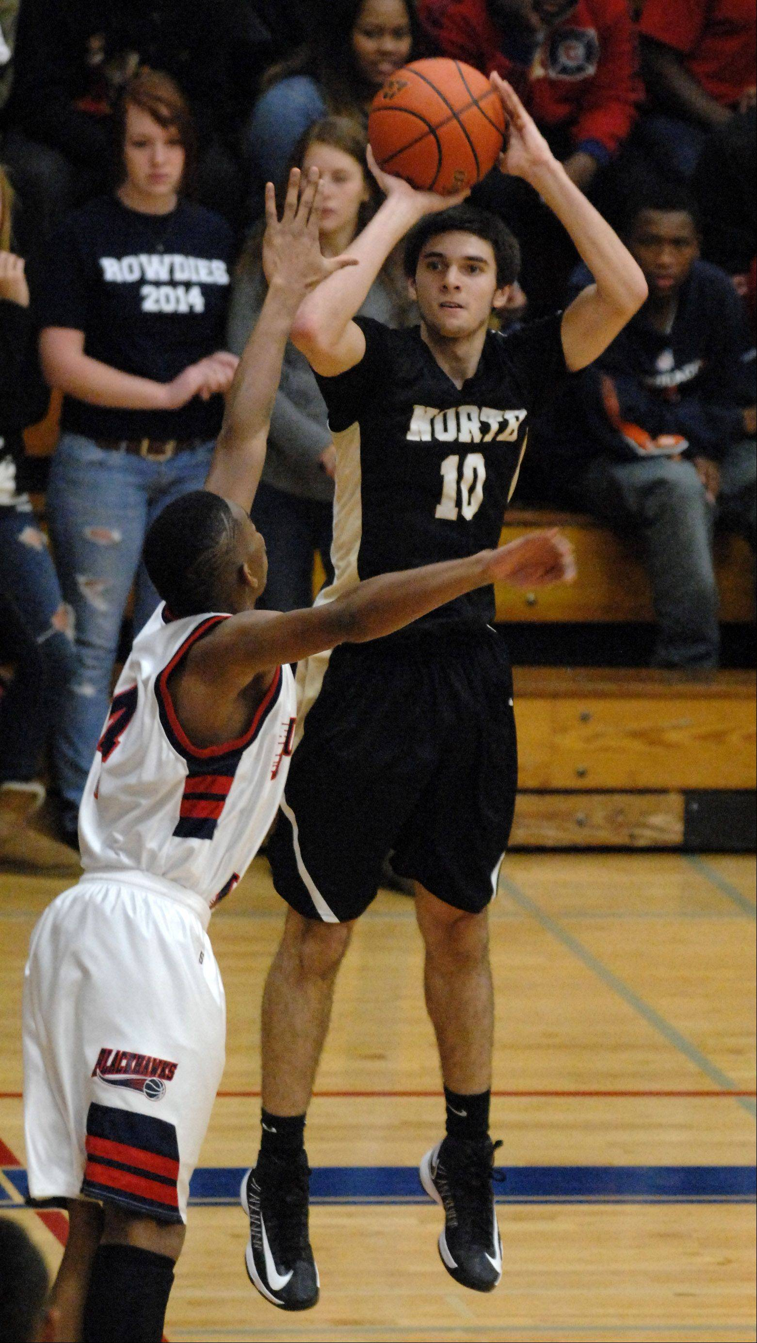 Images from the Glenbard North vs. West Aurora boys basketball game Friday, December 14, 2012.