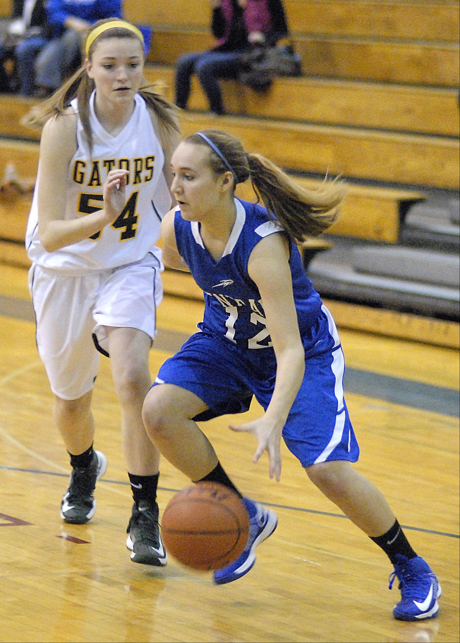 Images from the Burlington Central vs. Crystal Lake South girls basketball game Saturday, December 15, 2012.