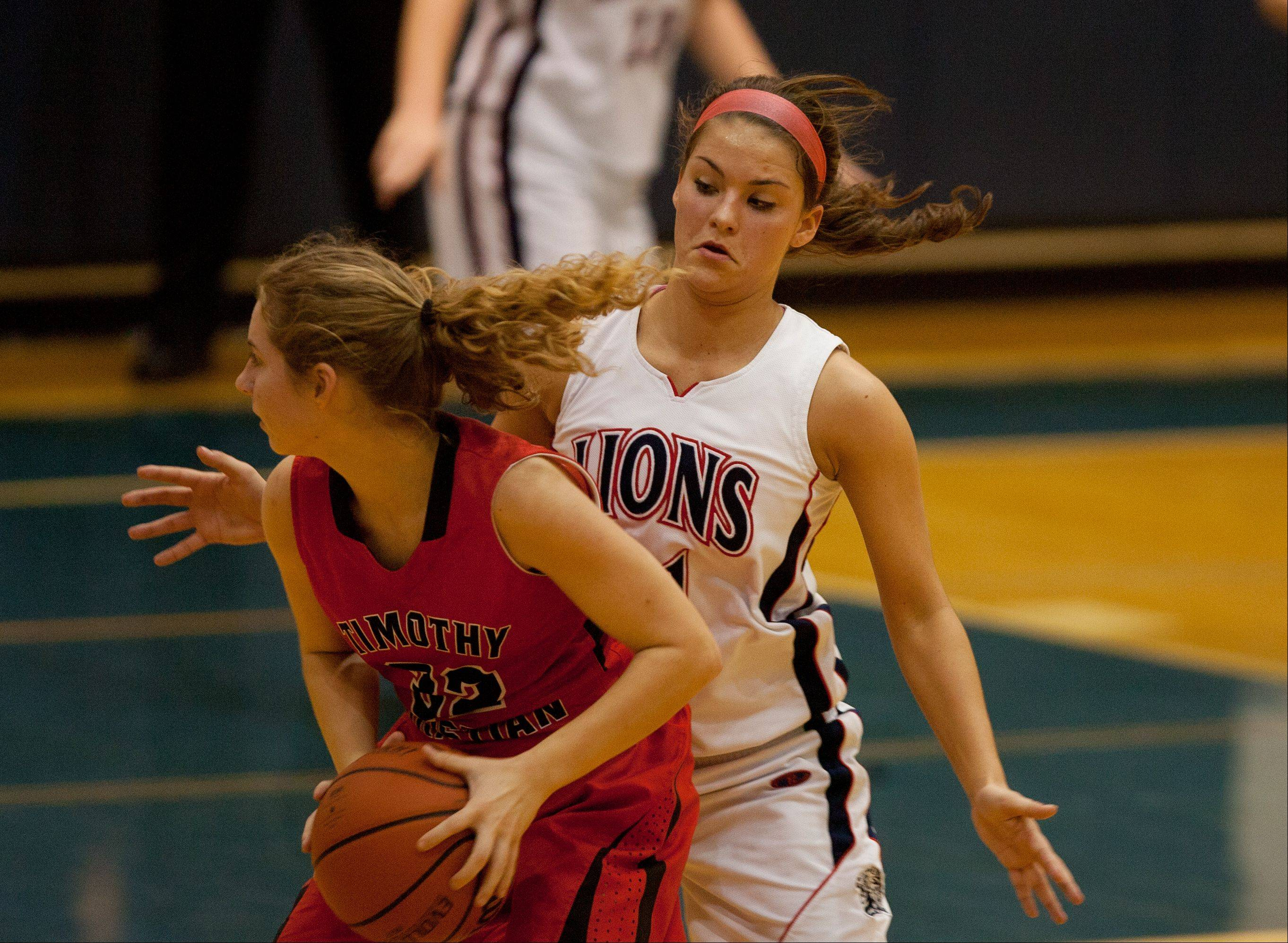 Lisle High School hosted Timothy Christian High School Tuesday night for girls basketball.