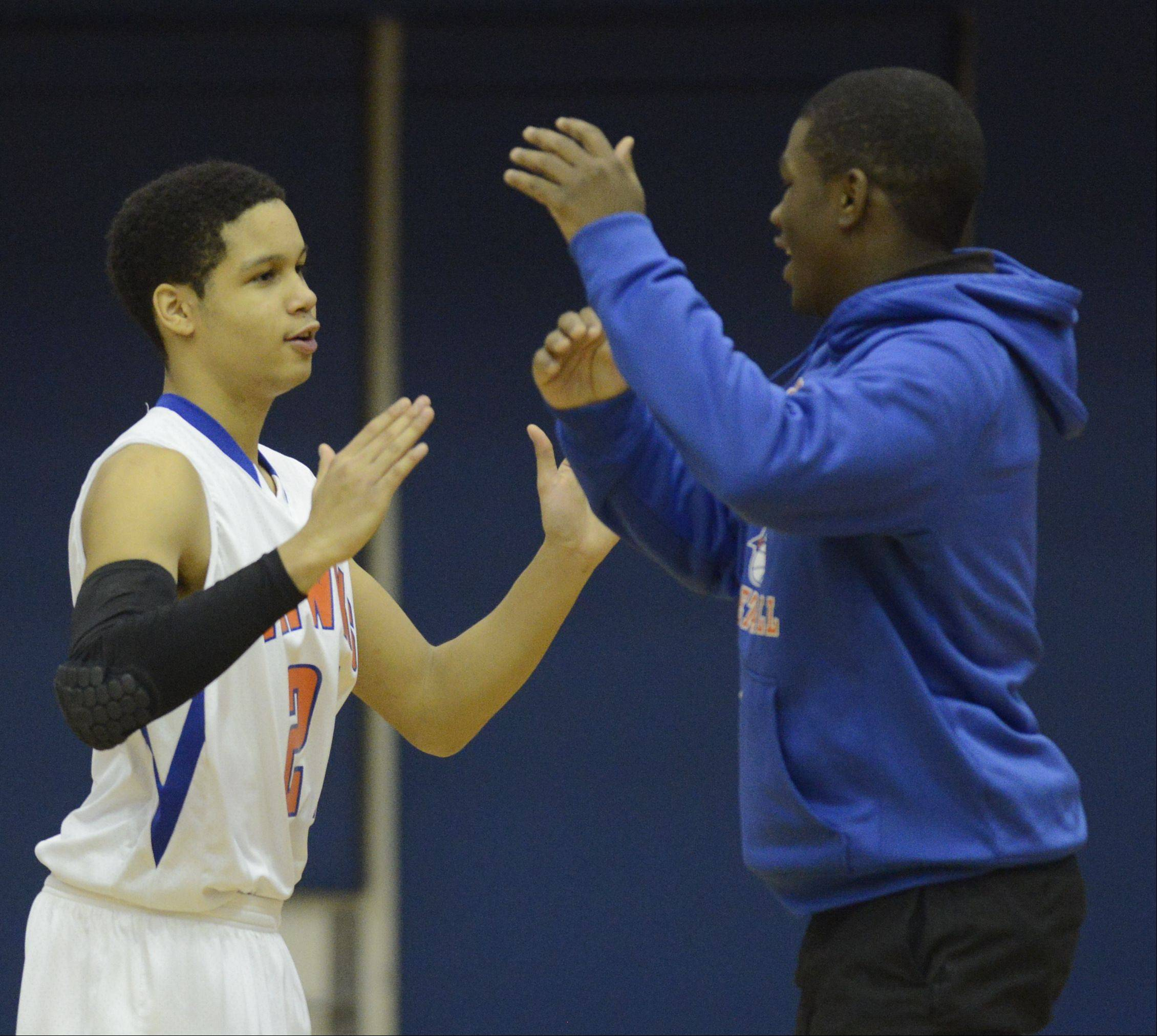 Images from the Prospect vs. Hoffman Estates boys basketball game on Tuesday, December 18th, in Hoffman Estates.