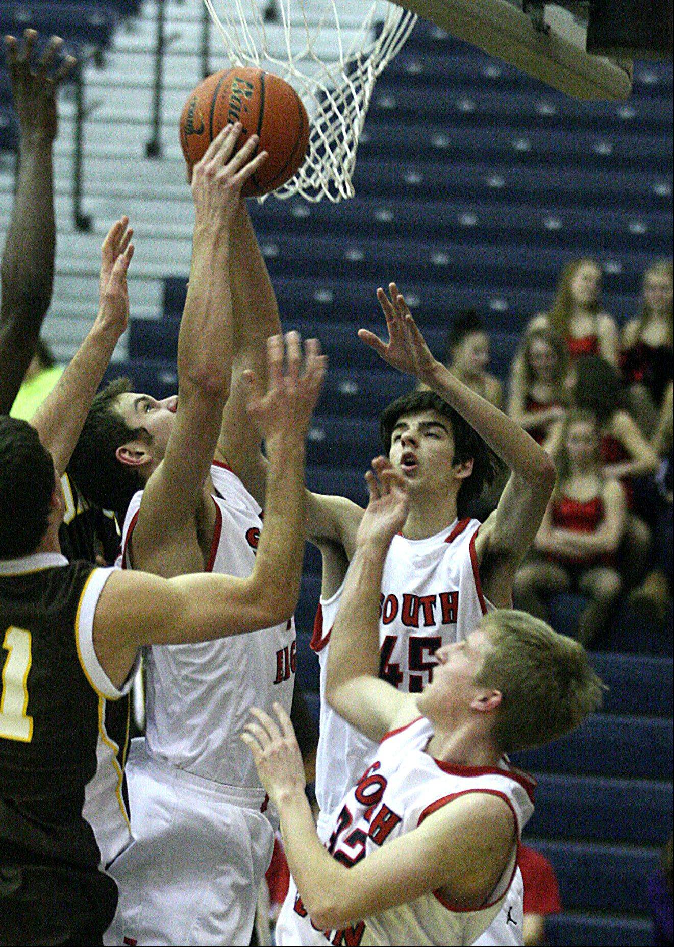 Images from the Jacobs vs. South Elgin boys basketball game Tuesday night, December 18, 2012 in South Elgin.