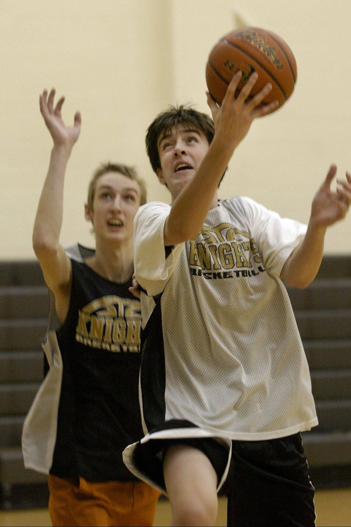 Grayslake North is finding it tough to take freshman Aidan Einloth off the floor.