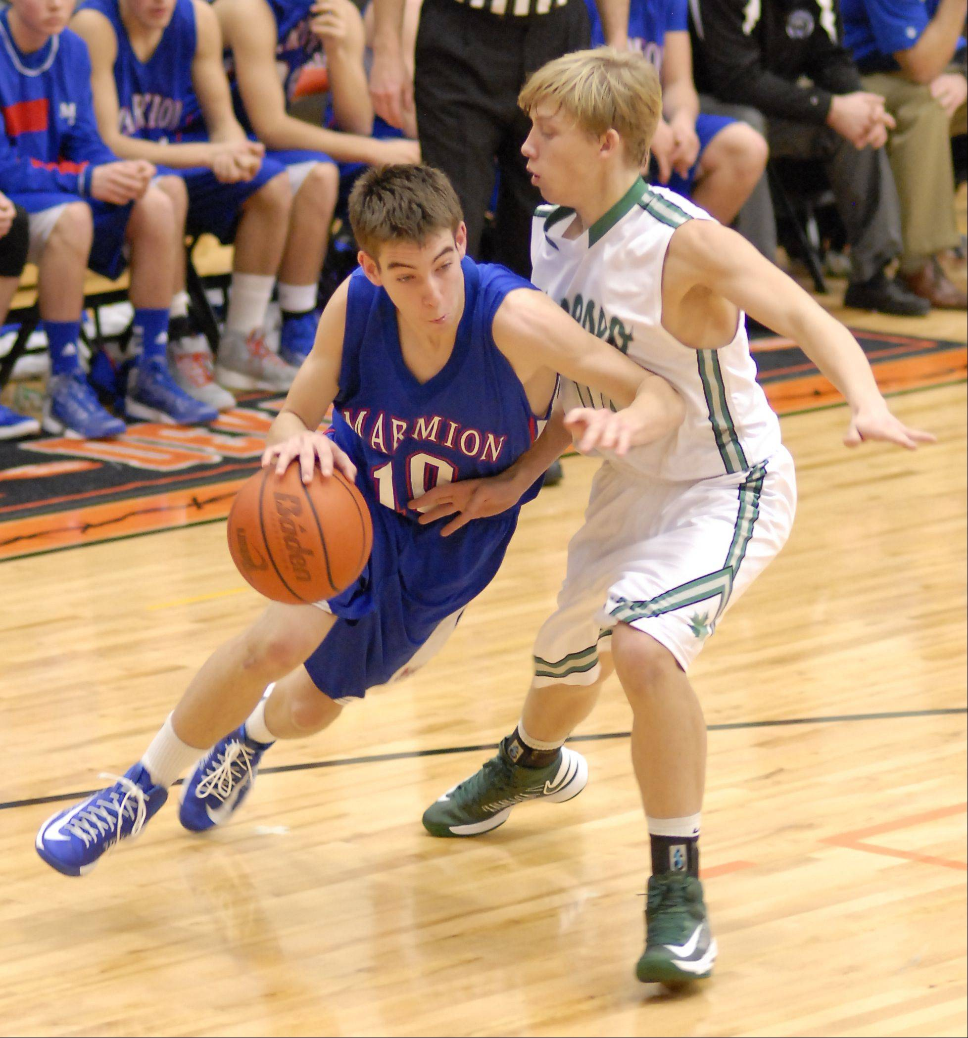 Images from the Marmion vs. Geneseo boys basketball game Saturday, December 22, 2012 in DeKalb.